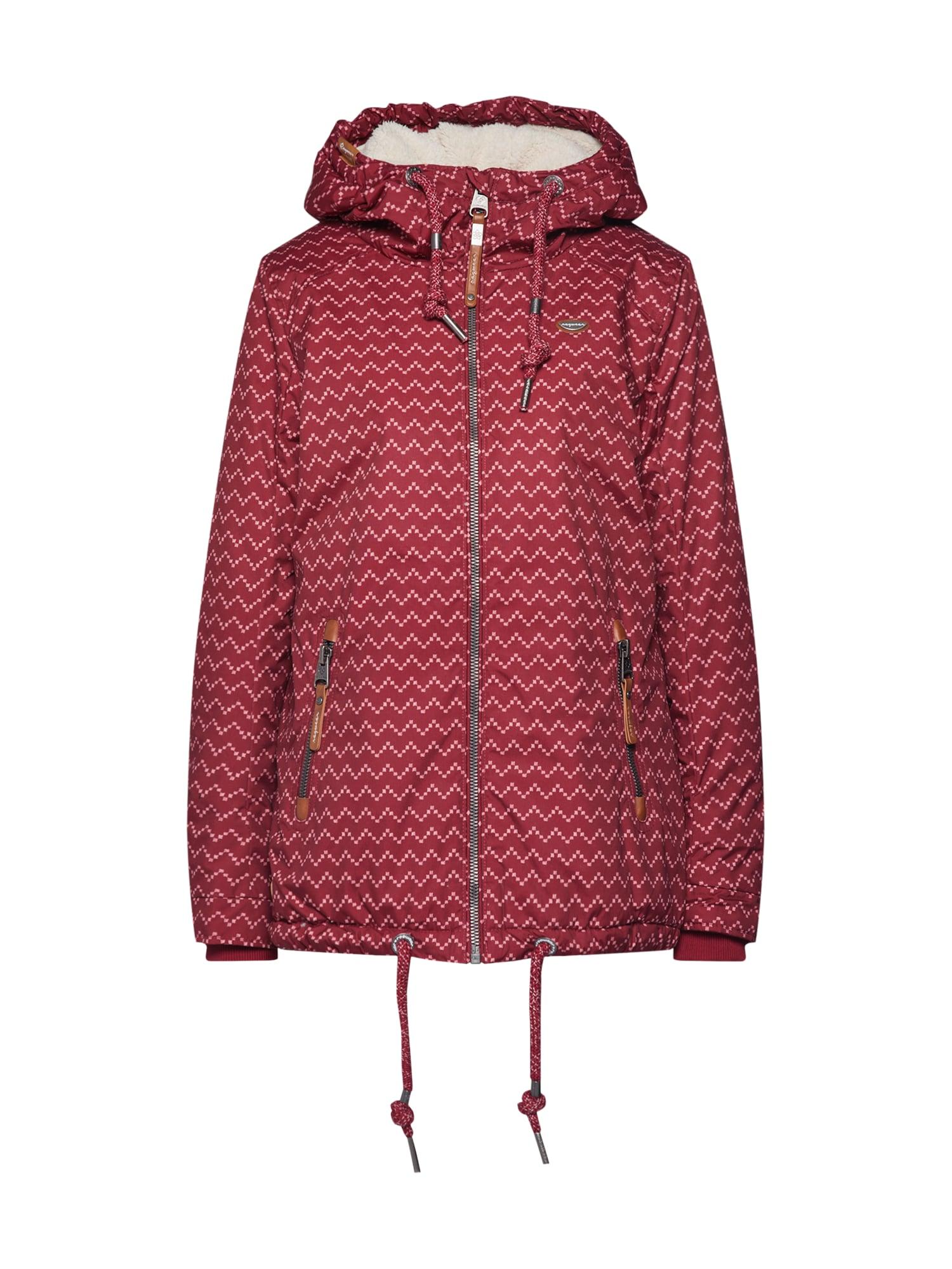 Ragwear Prechodná bunda 'ZUZKA Zig Zag'  bordové / vínovo červená