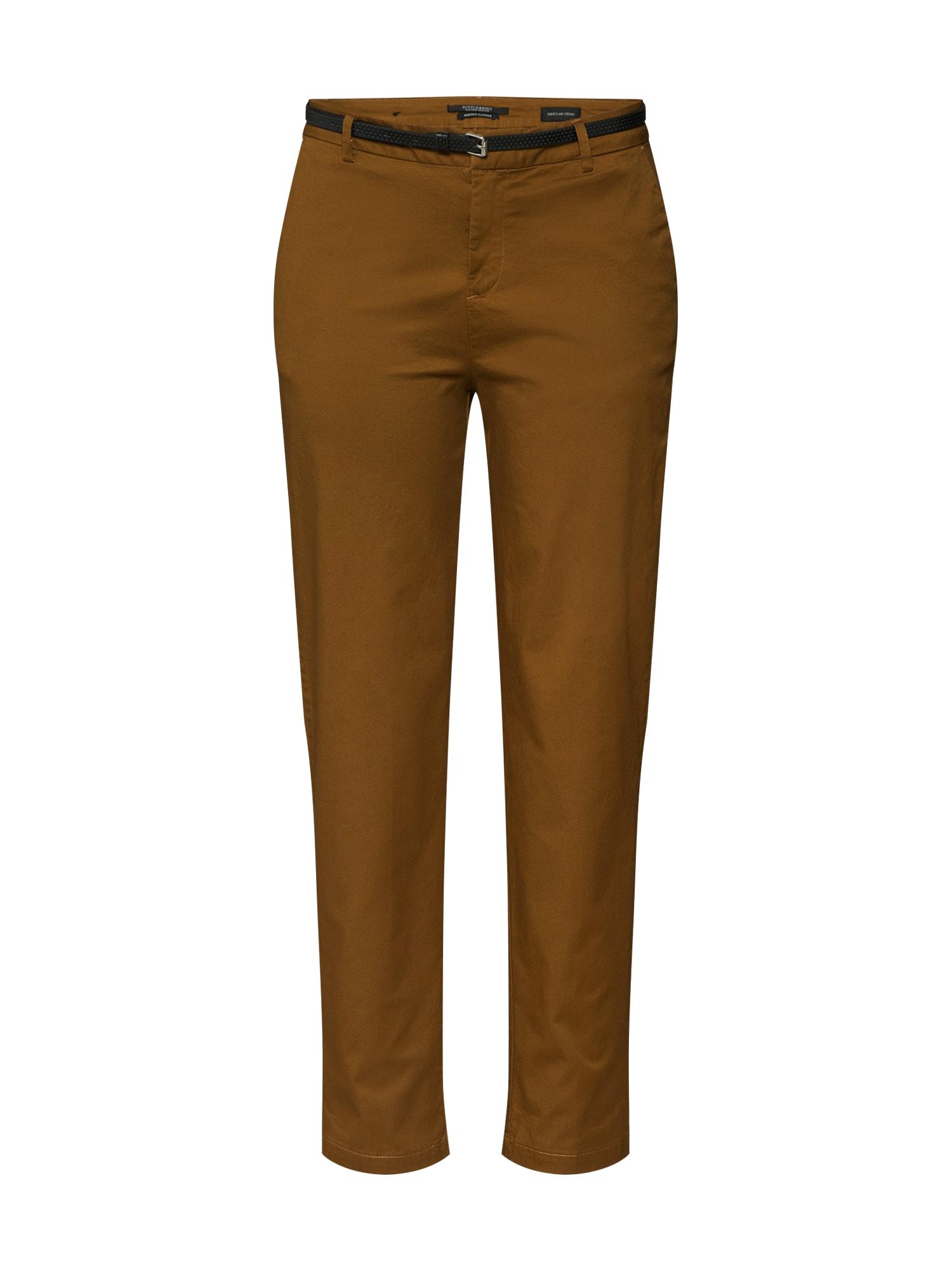 SCOTCH & SODA Chino kalhoty  hnědá