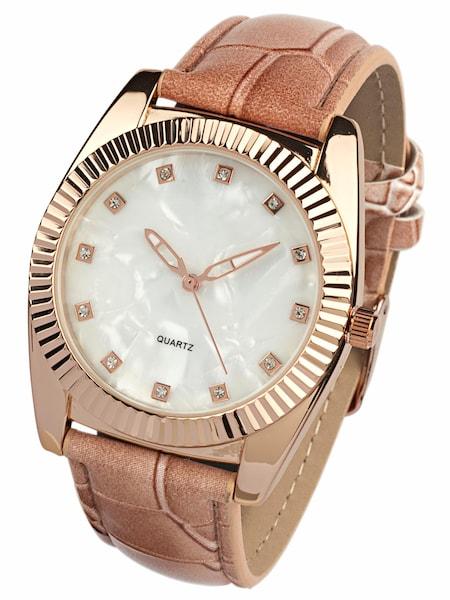 Uhren für Frauen - Heine Armbanduhr in Perlmuttoptik orange  - Onlineshop ABOUT YOU