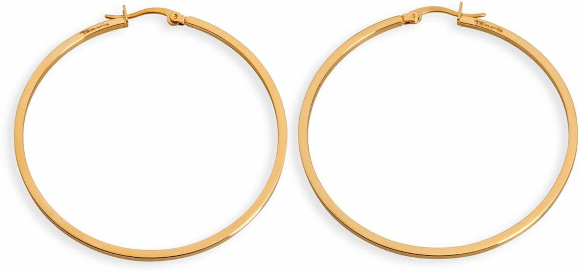 Ohrringe für Frauen - TAMARIS Paar Creolen 'Kim' grau  - Onlineshop ABOUT YOU