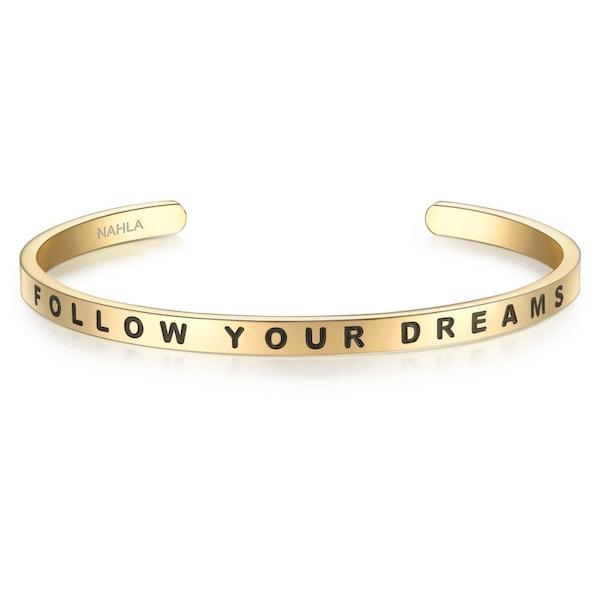Armbaender für Frauen - Nahla Jewels Armreif Bangle mit schöner Gravur gold schwarz  - Onlineshop ABOUT YOU