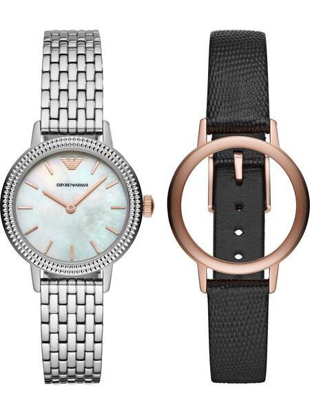 Uhren für Frauen - Emporio Armani Damenuhr schwarz silber  - Onlineshop ABOUT YOU