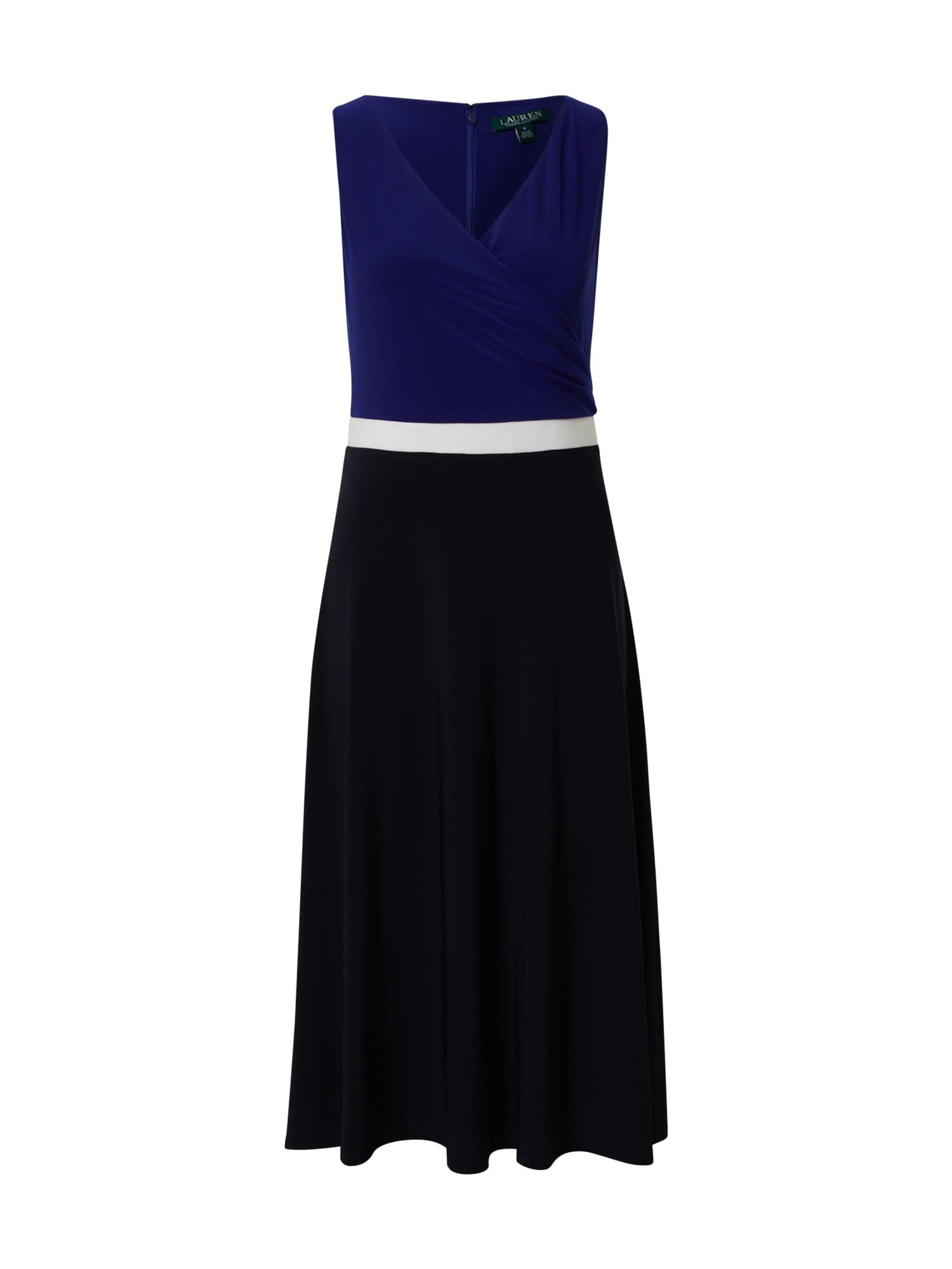 Lauren Ralph Lauren Kokteilinė suknelė tamsiai mėlyna / balta