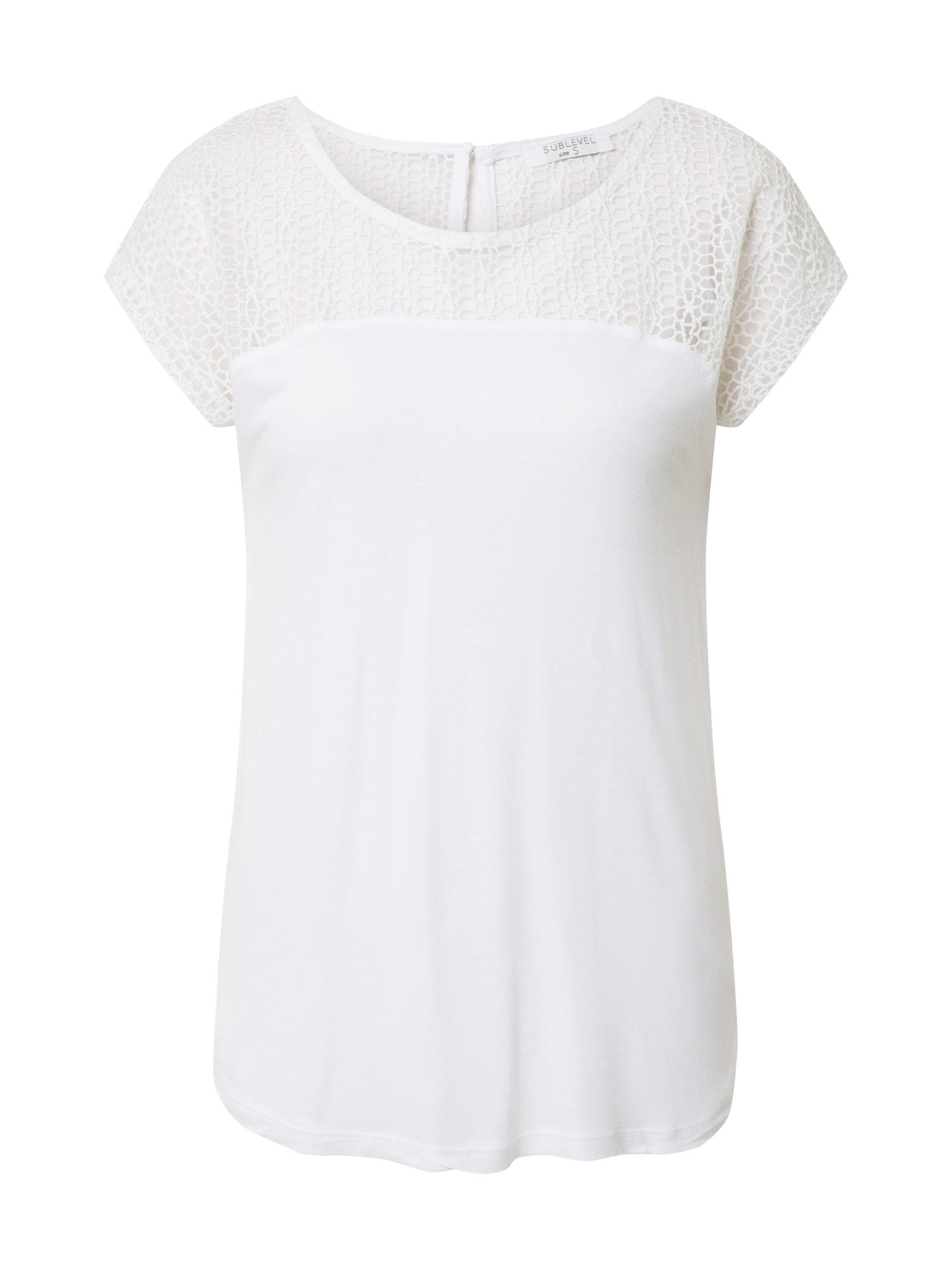 Sublevel Marškinėliai balta