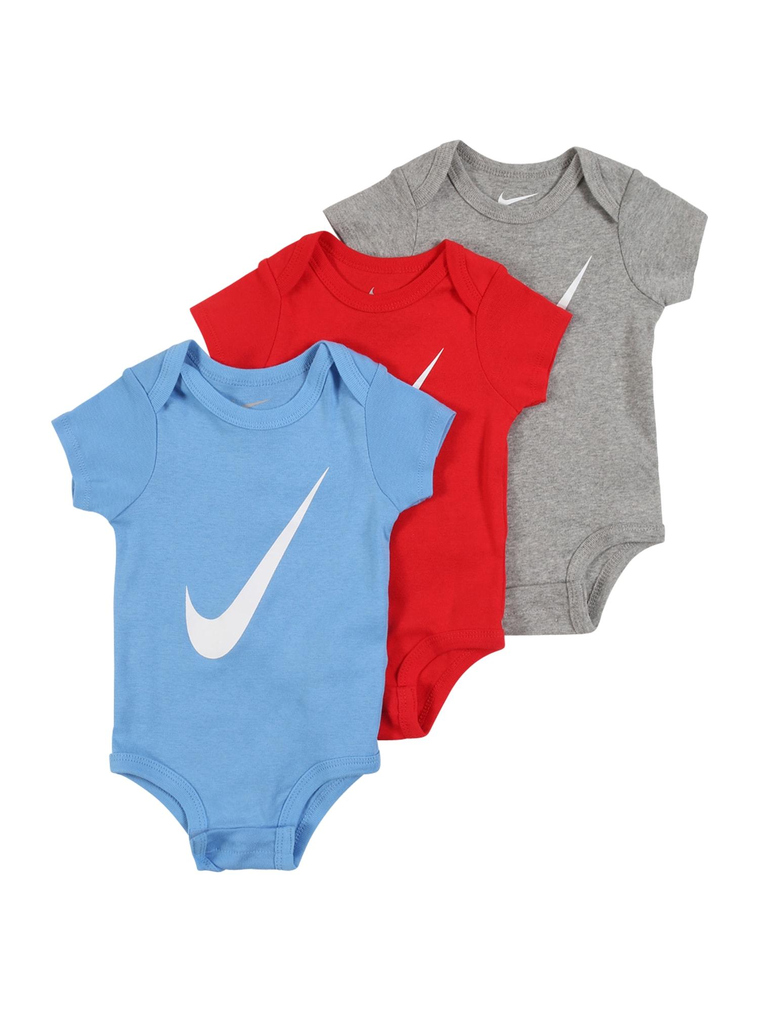 Nike Sportswear Šliaužtinukas / glaustinukė raudona / mėlyna / pilka