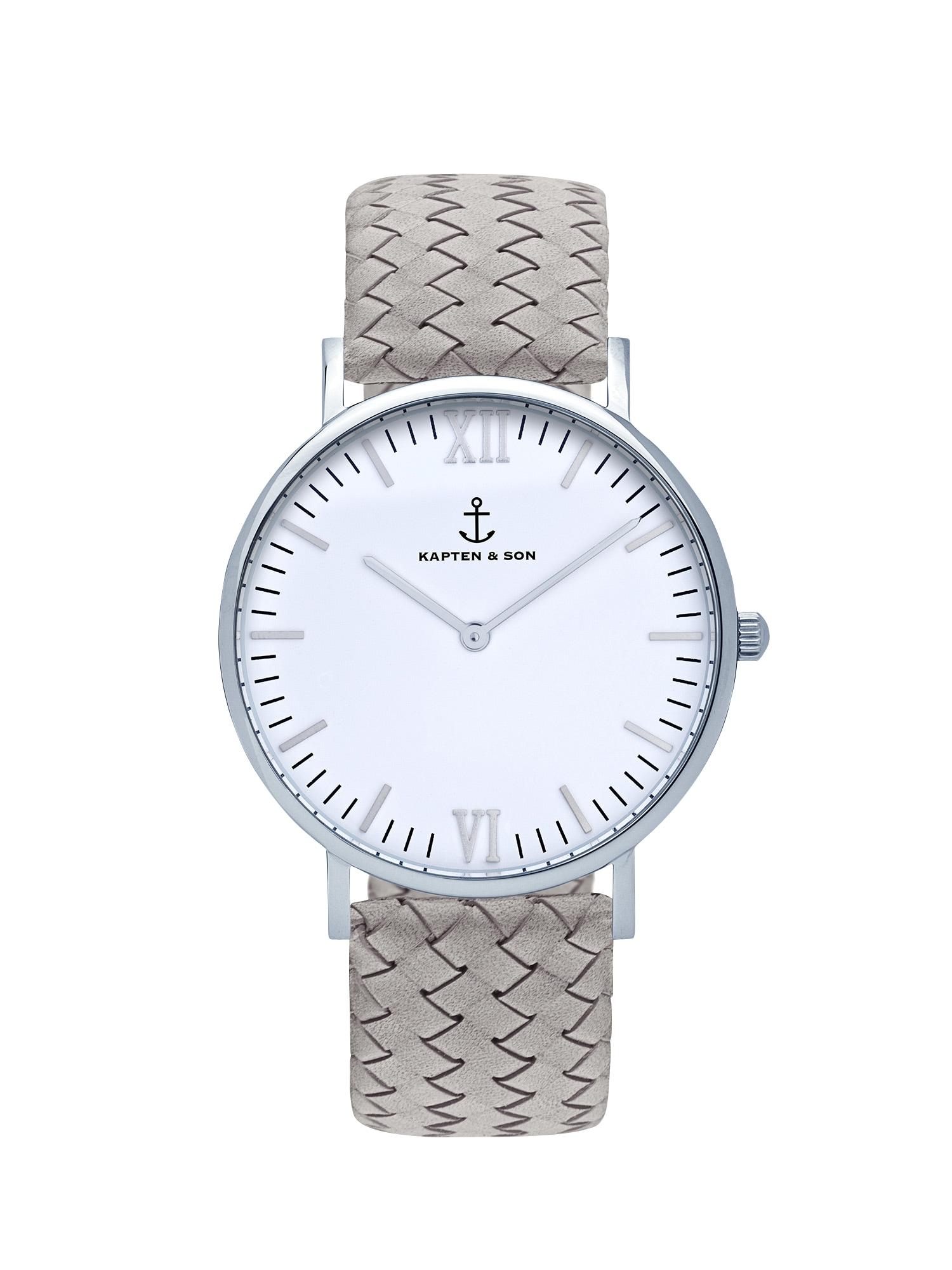 Kapten & Son Analoginis (įprastinio dizaino) laikrodis 'Campina' pilka / sidabras