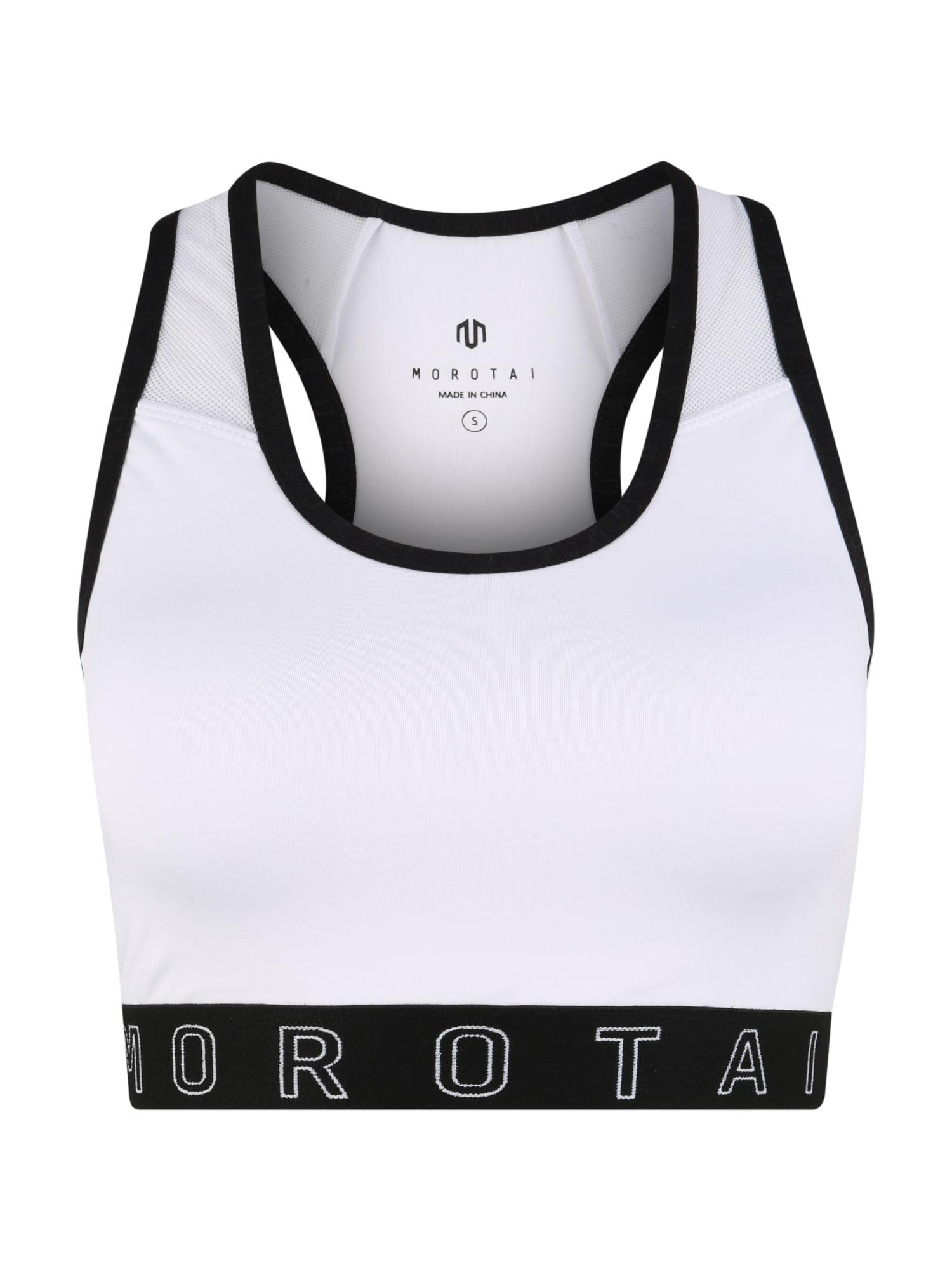 MOROTAI Sportinė liemenėlė juoda / balta