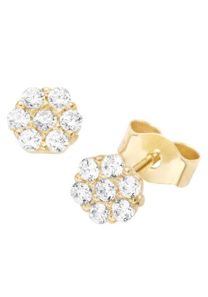 Ohrringe für Frauen - FIRETTI Ohrstecker 'Rund' gold transparent  - Onlineshop ABOUT YOU