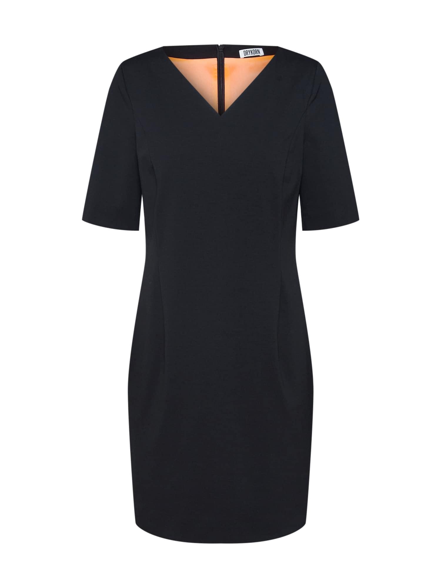 DRYKORN Kokteilinė suknelė 'JANINE' juoda