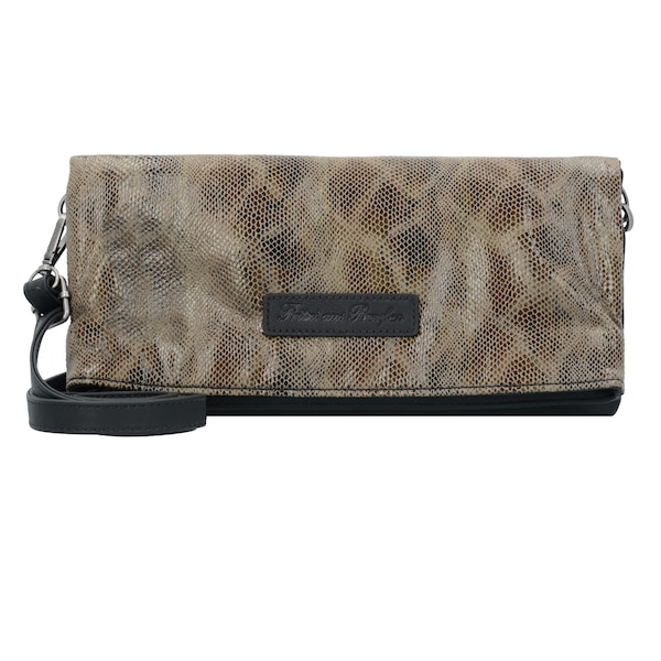 Clutches für Frauen - 'Ronja Clas Snake' Clutch › Fritzi Aus Preußen › braun  - Onlineshop ABOUT YOU