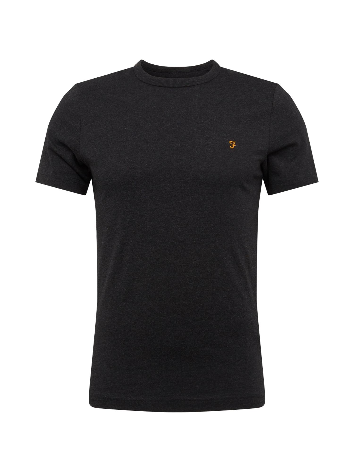 FARAH Marškinėliai 'DENNIS SOLID SS TEE' juoda