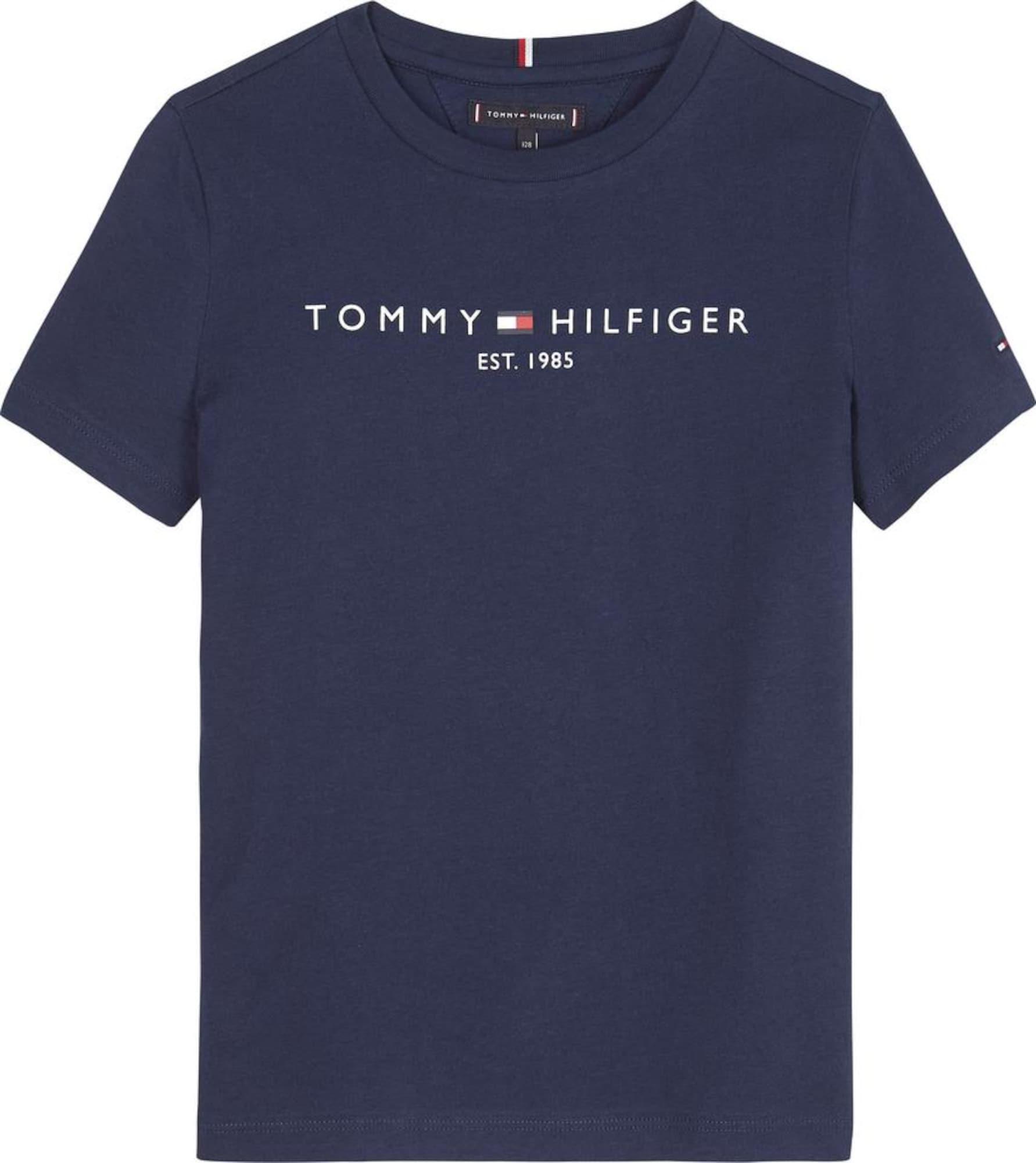 TOMMY HILFIGER Marškinėliai tamsiai mėlyna jūros spalva
