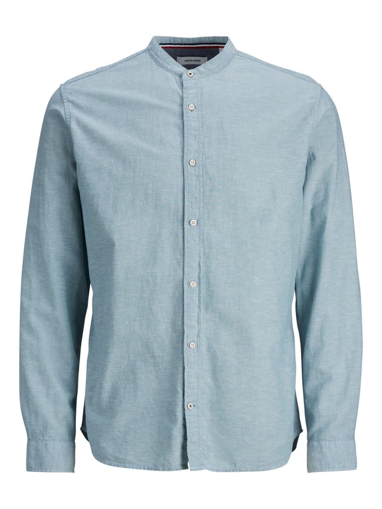 JACK & JONES Marškiniai pastelinė mėlyna