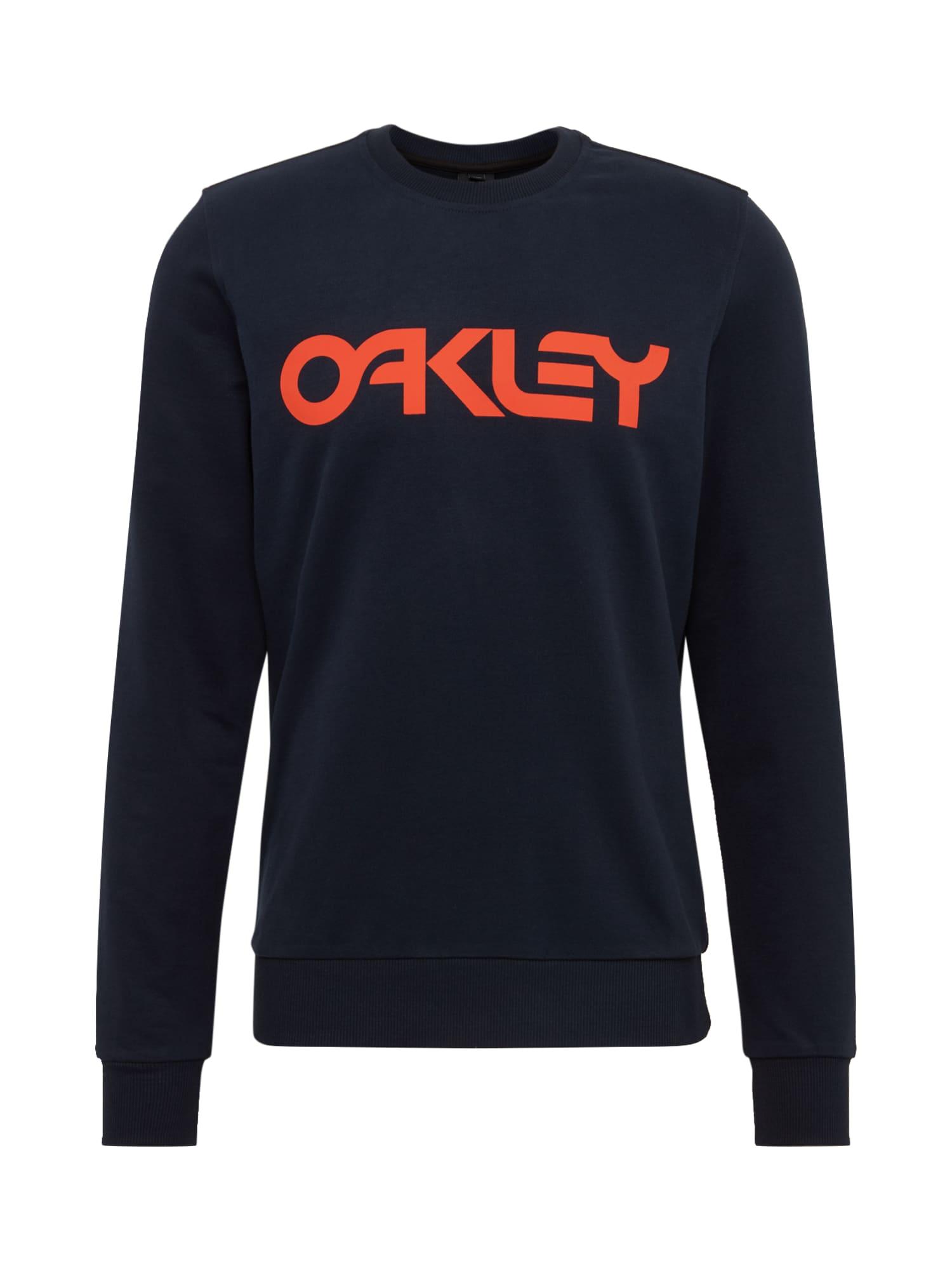 OAKLEY Megztinis be užsegimo 'B1B Crew' tamsiai oranžinė / tamsiai mėlyna