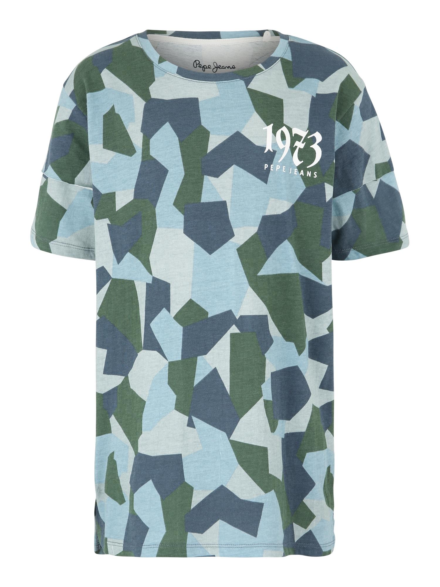 Tričko SMITH TEEN modrá Pepe Jeans