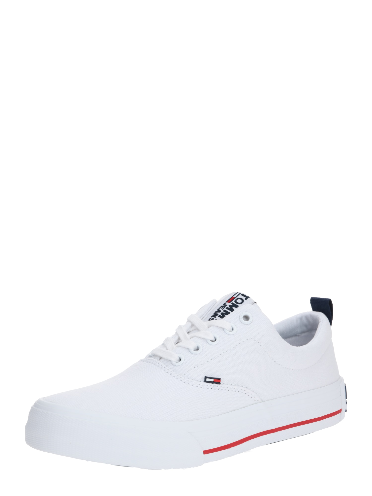 Tommy Jeans Sportbačiai be auliuko 'CLASSIC LOW TOMMY JEANS SNEAKER' balta