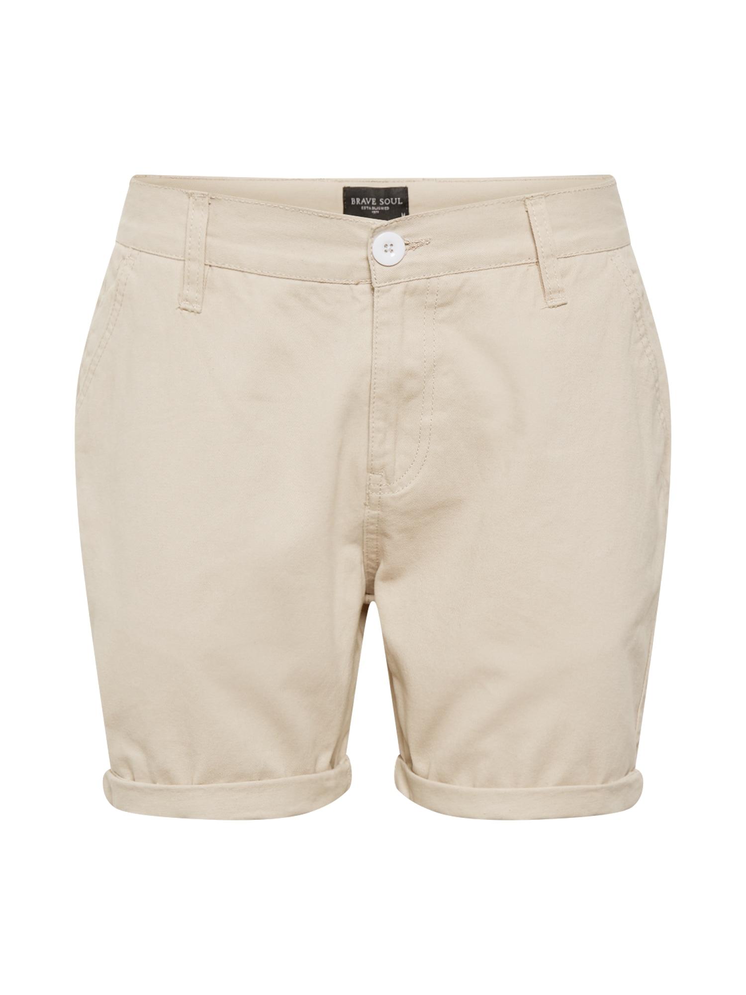 Kalhoty béžová BRAVE SOUL