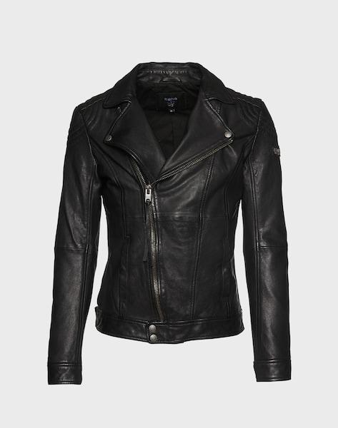 tigha lederjacke im biker stil 39 alain 39 in schwarz about you. Black Bedroom Furniture Sets. Home Design Ideas