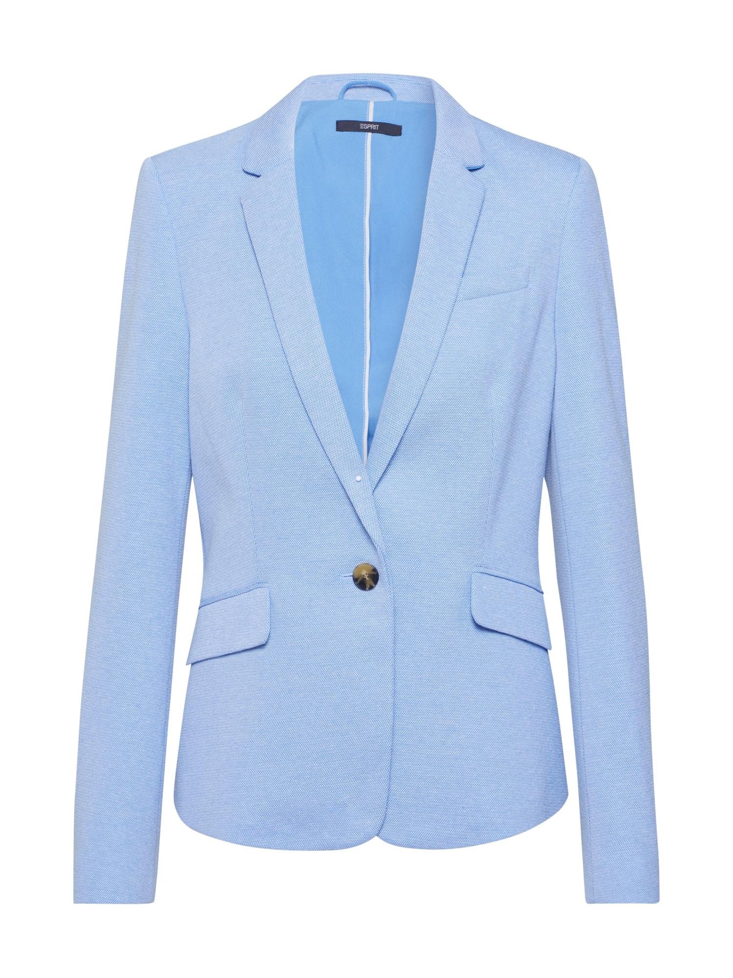 Esprit Collection Blazer švarkas 'Pique Update' šviesiai mėlyna