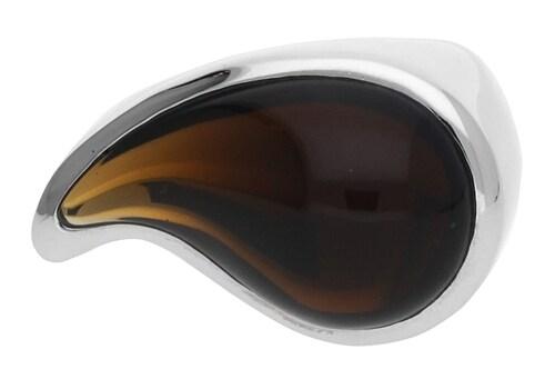 Ringe für Frauen - ESPRIT Fingerring Drip Drop in außergewöhnlichem Design ESRG11567E braun silber  - Onlineshop ABOUT YOU