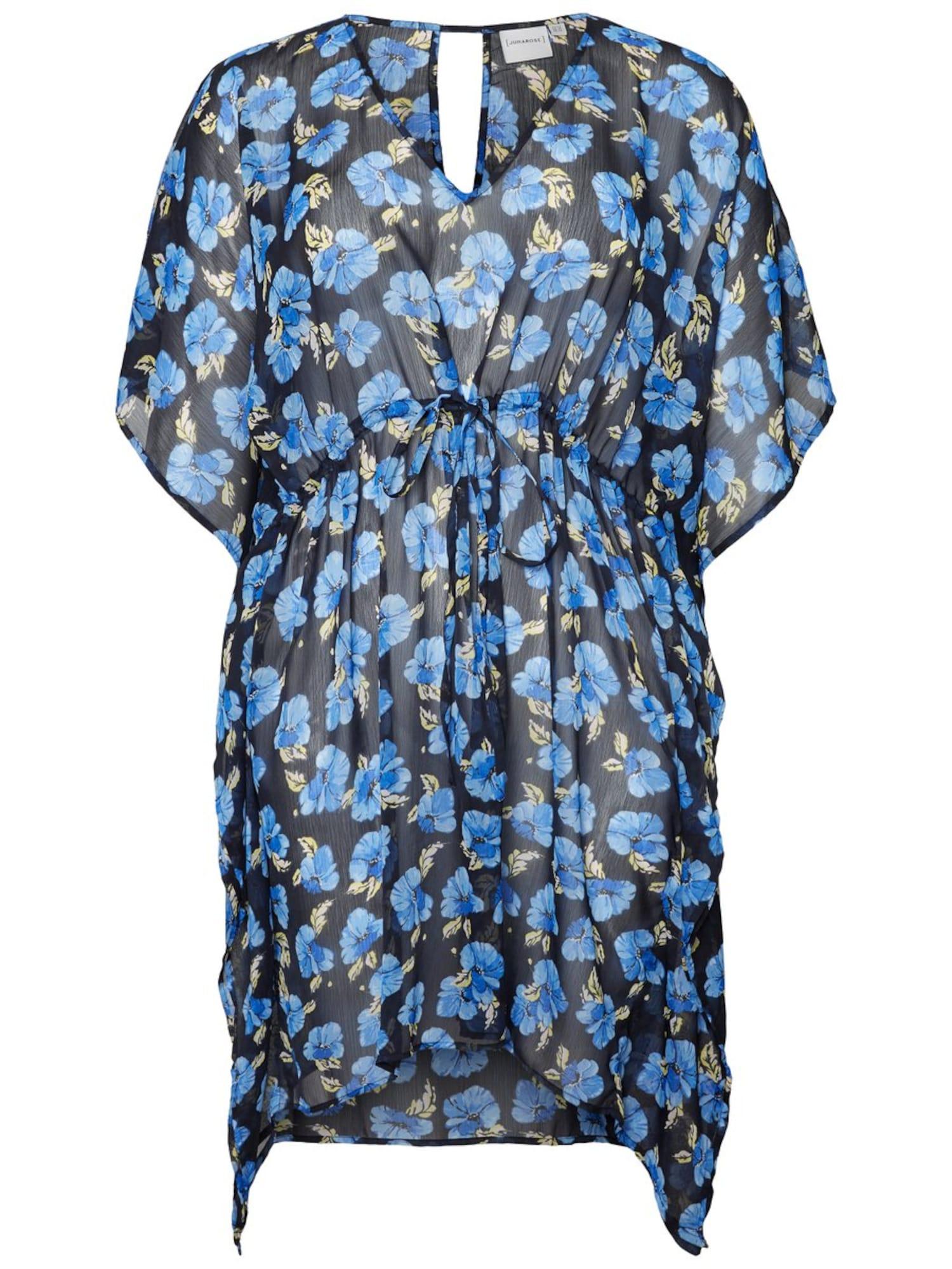 Plážové šaty béžová modrá noční modrá Junarose