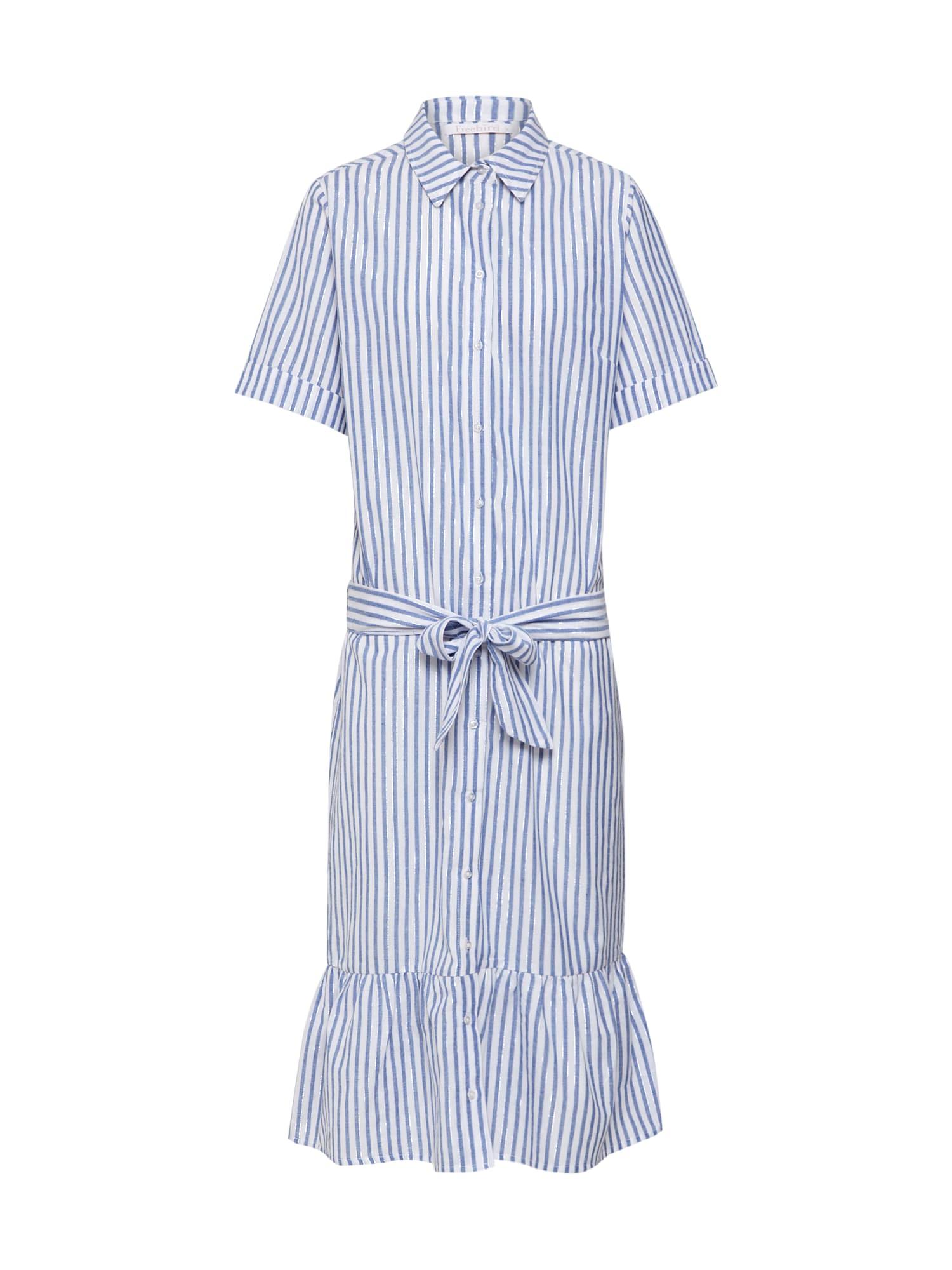 Košilové šaty Dress světlemodrá bílá Freebird