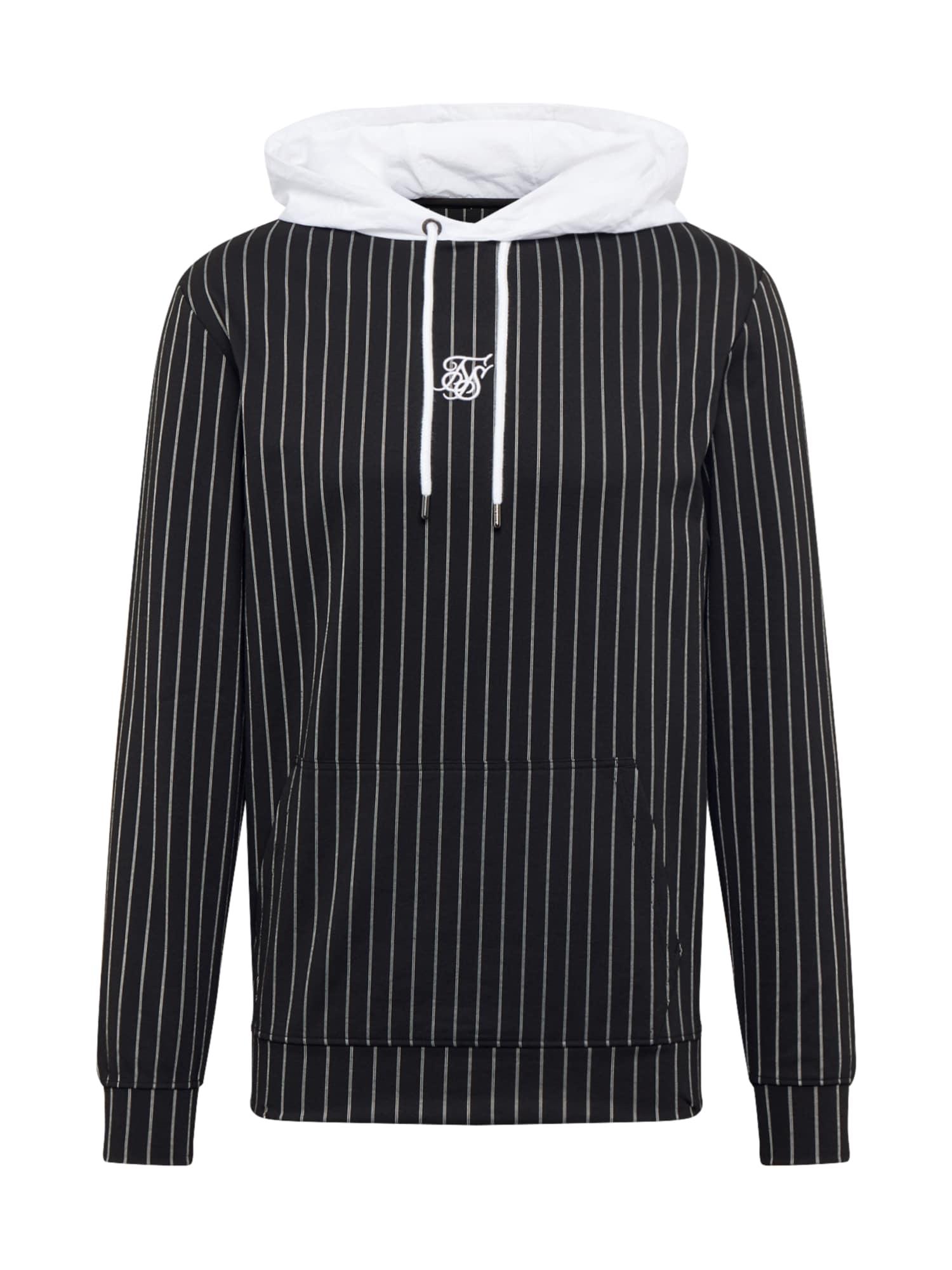 SikSilk Megztinis be užsegimo balta / juoda