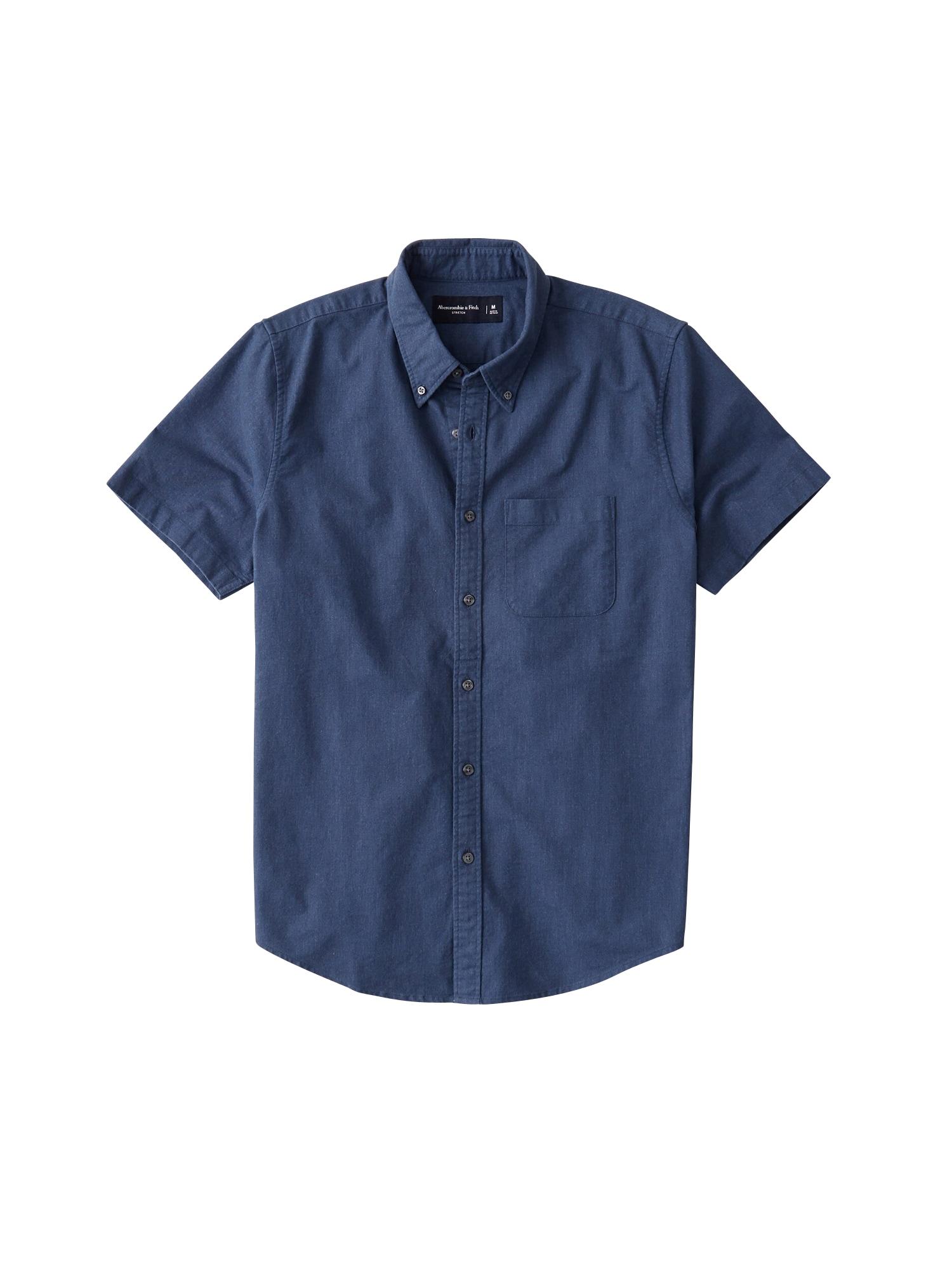 Abercrombie & Fitch Dalykiniai marškiniai tamsiai mėlyna