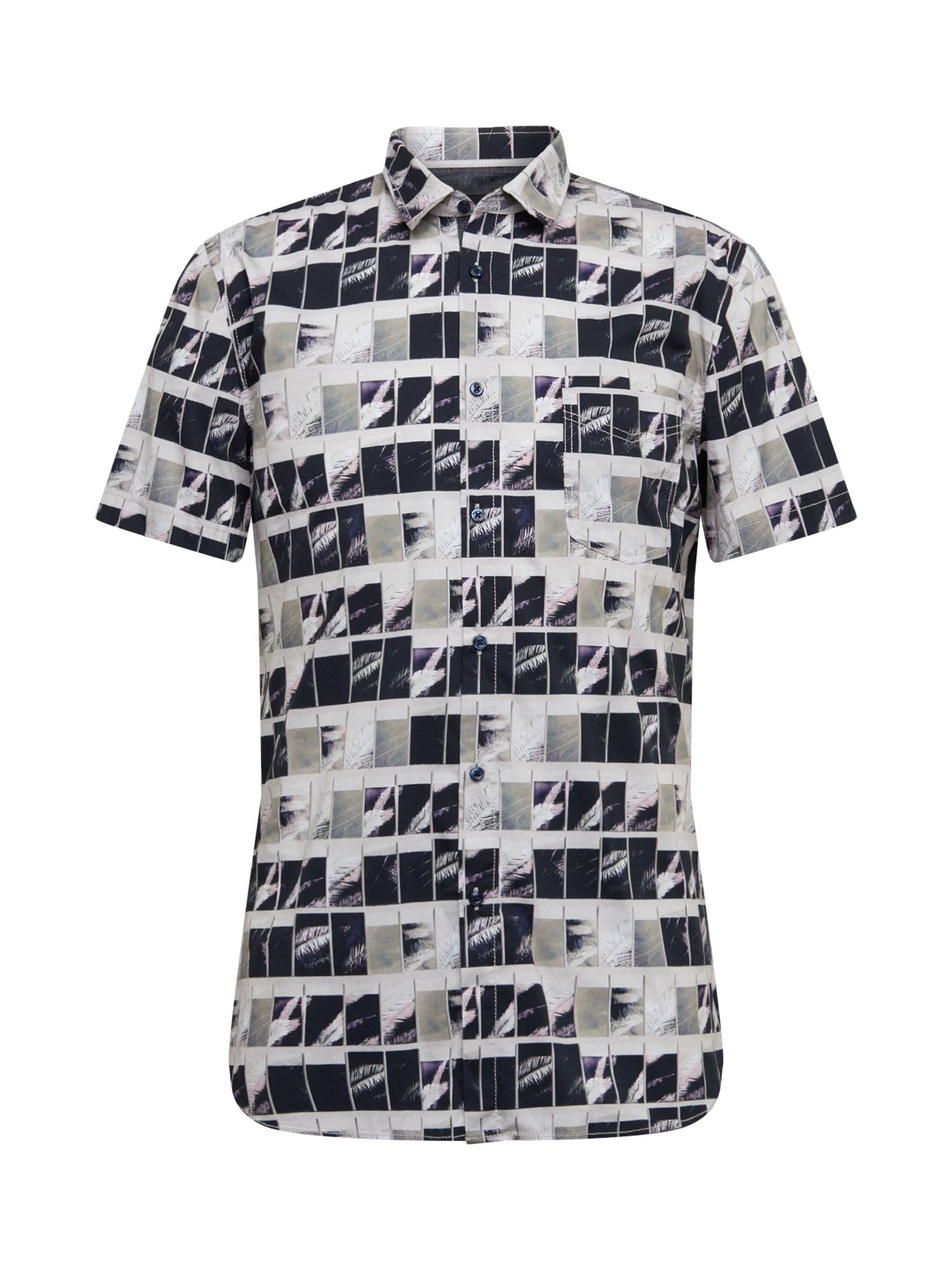 BOSS Dalykiniai marškiniai 'Magneton' pilka / tamsiai pilka