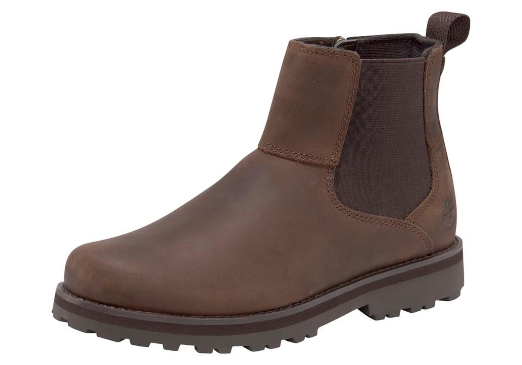 TIMBERLAND Auliniai batai su kulniuku tamsiai ruda