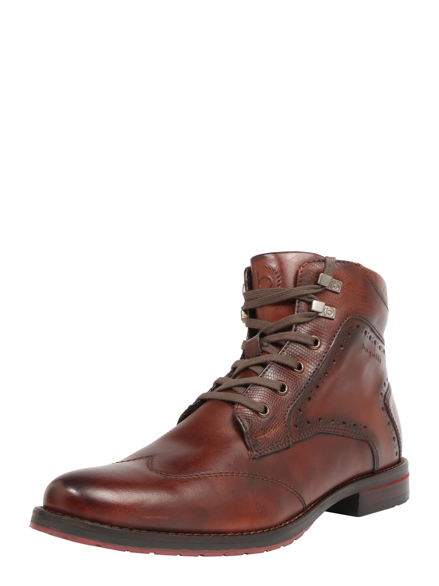 bugatti Auliniai batai su raišteliais 'Lussorio' margai ruda
