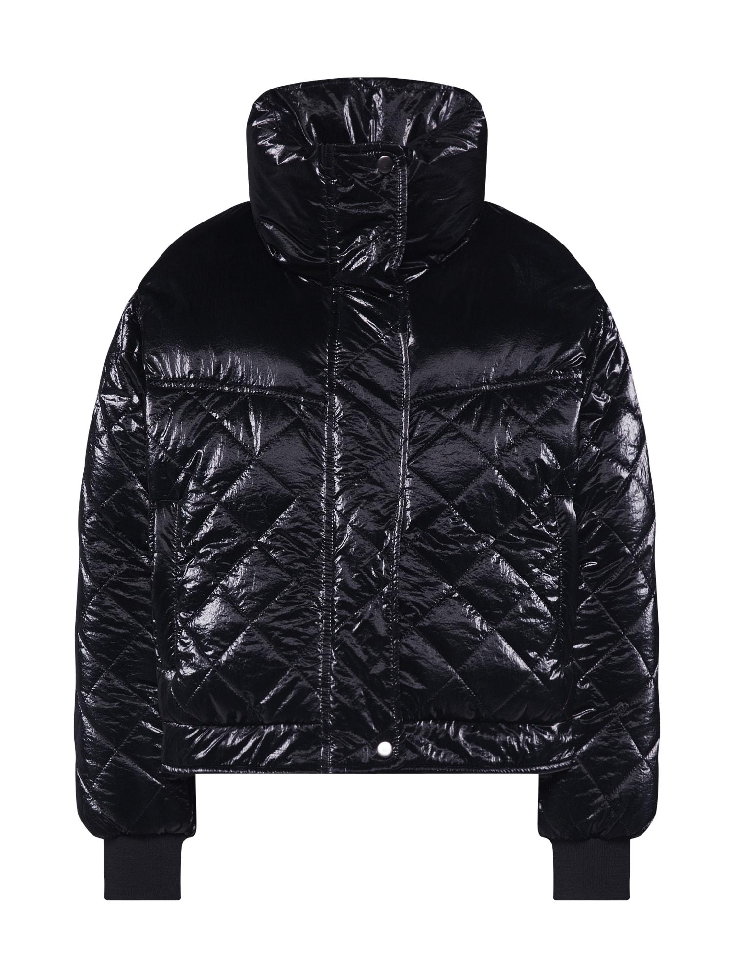Urban Classics Geacă de primăvară-toamnă 'Ladies Vanish Oversized Diamond Quilt'  negru