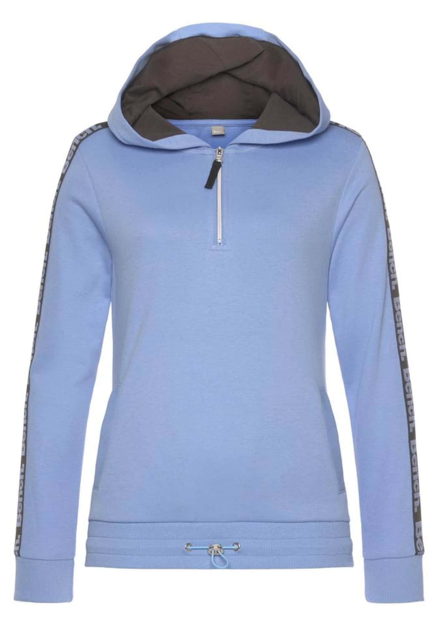 BENCH Megztinis be užsegimo mėlyna / juoda