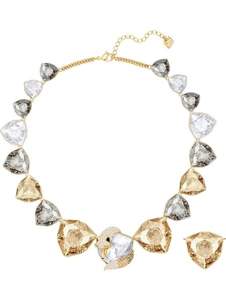Schmucksets für Frauen - Swarovski Kette 'March Fox 5421711' gold silber weiß  - Onlineshop ABOUT YOU