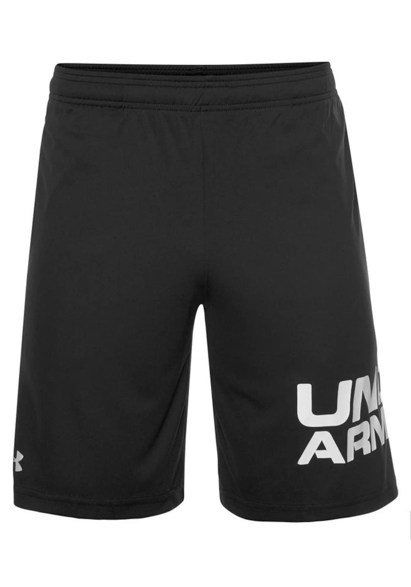 UNDER ARMOUR Sportinės kelnės juoda / balta