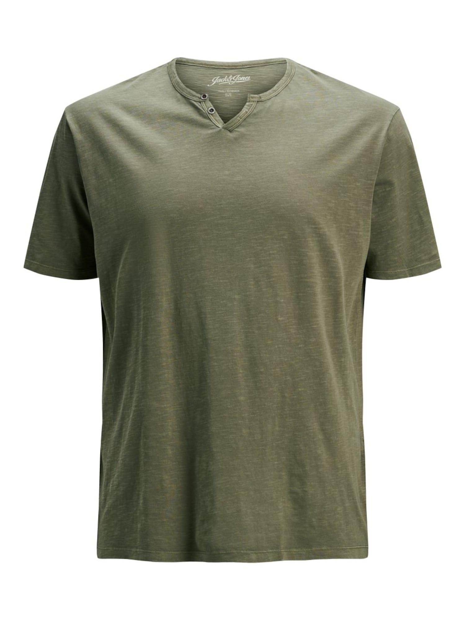 Jack & Jones Plus Marškinėliai alyvuogių spalva