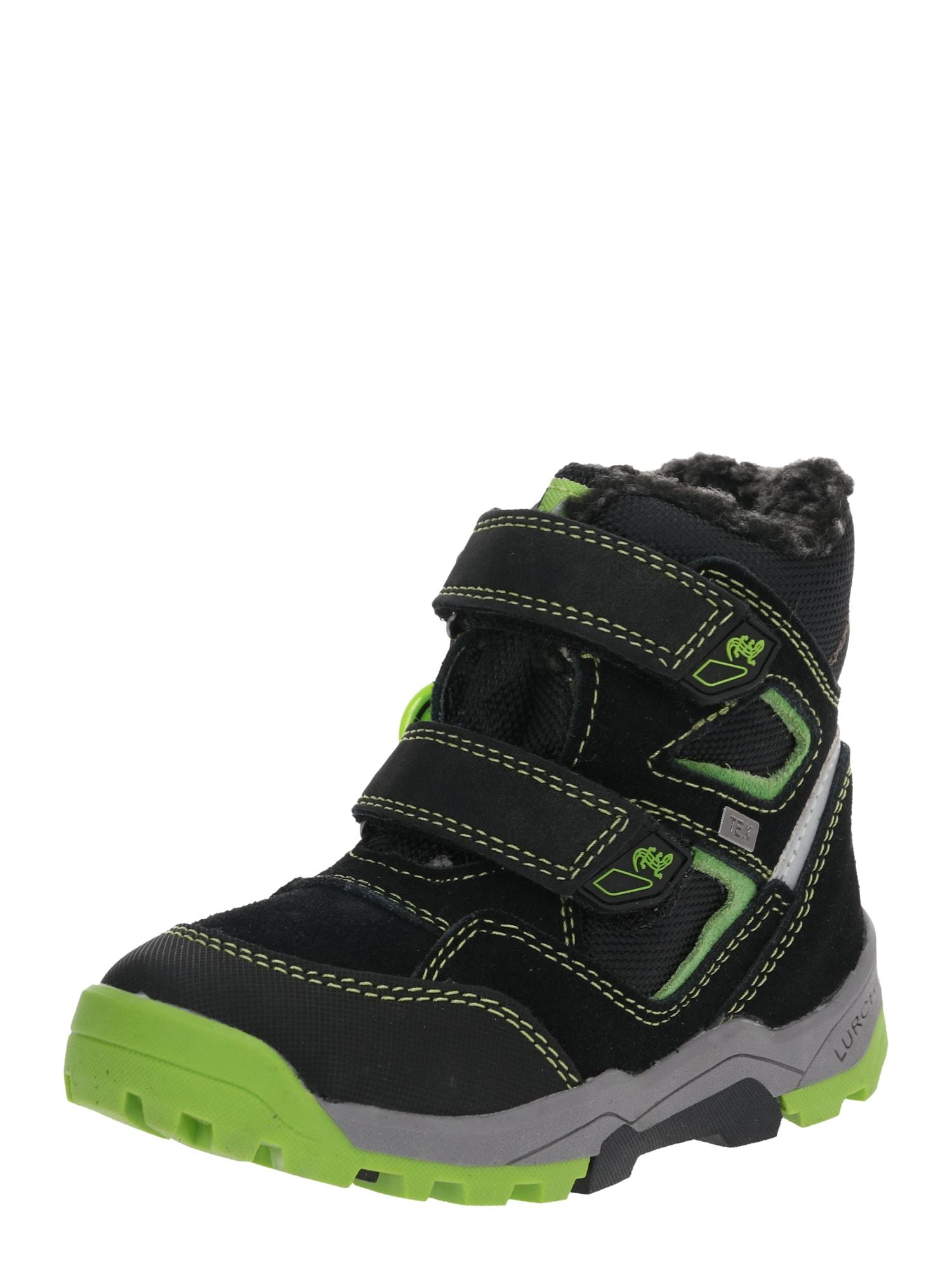 LURCHI Sniego batai 'TIM-TEX' juoda / neoninė geltona
