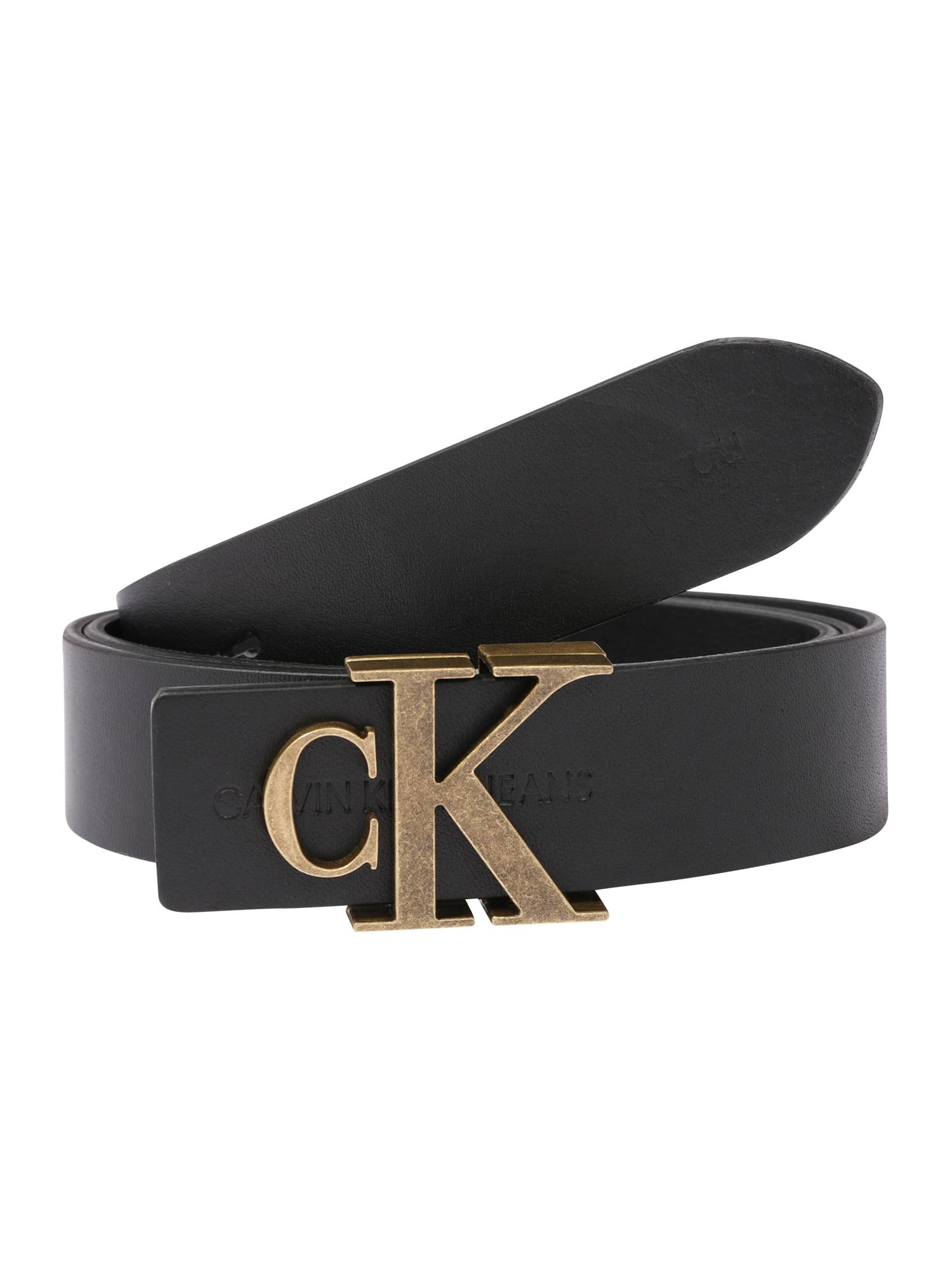 Calvin Klein Opasky 'CKJ MONO HARDWARE 30MM'  čierna