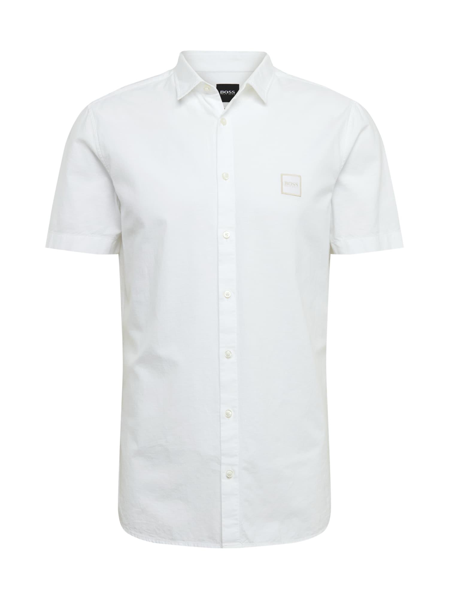 BOSS Dalykiniai marškiniai 'Magneton' balta
