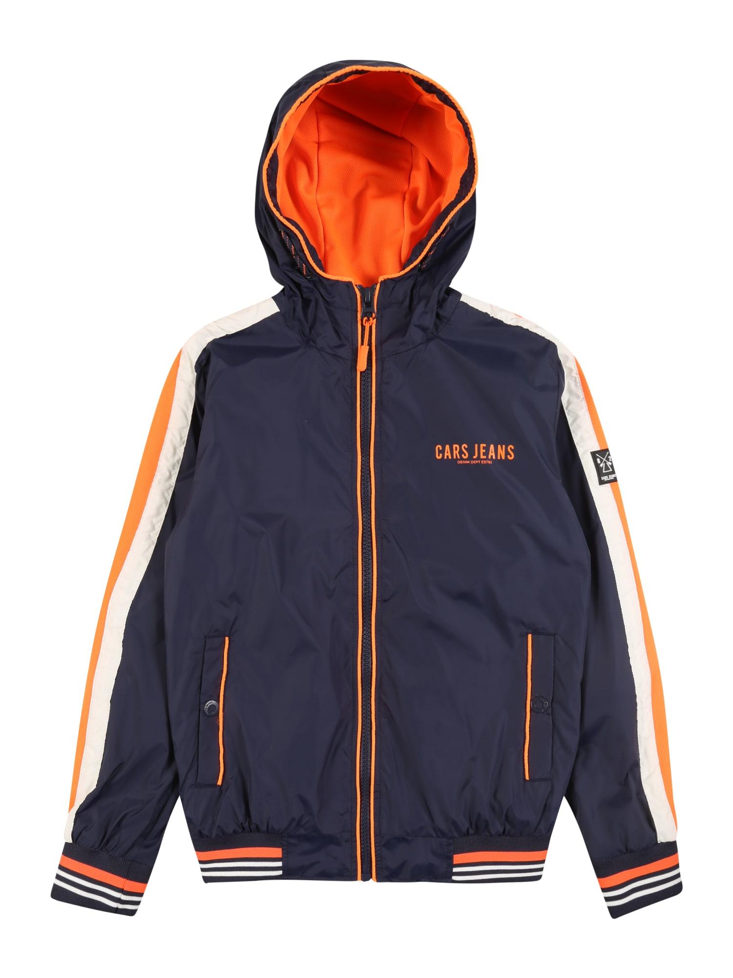 Cars Jeans Demisezoninė striukė 'KIDS MINORI' tamsiai mėlyna / oranžinė