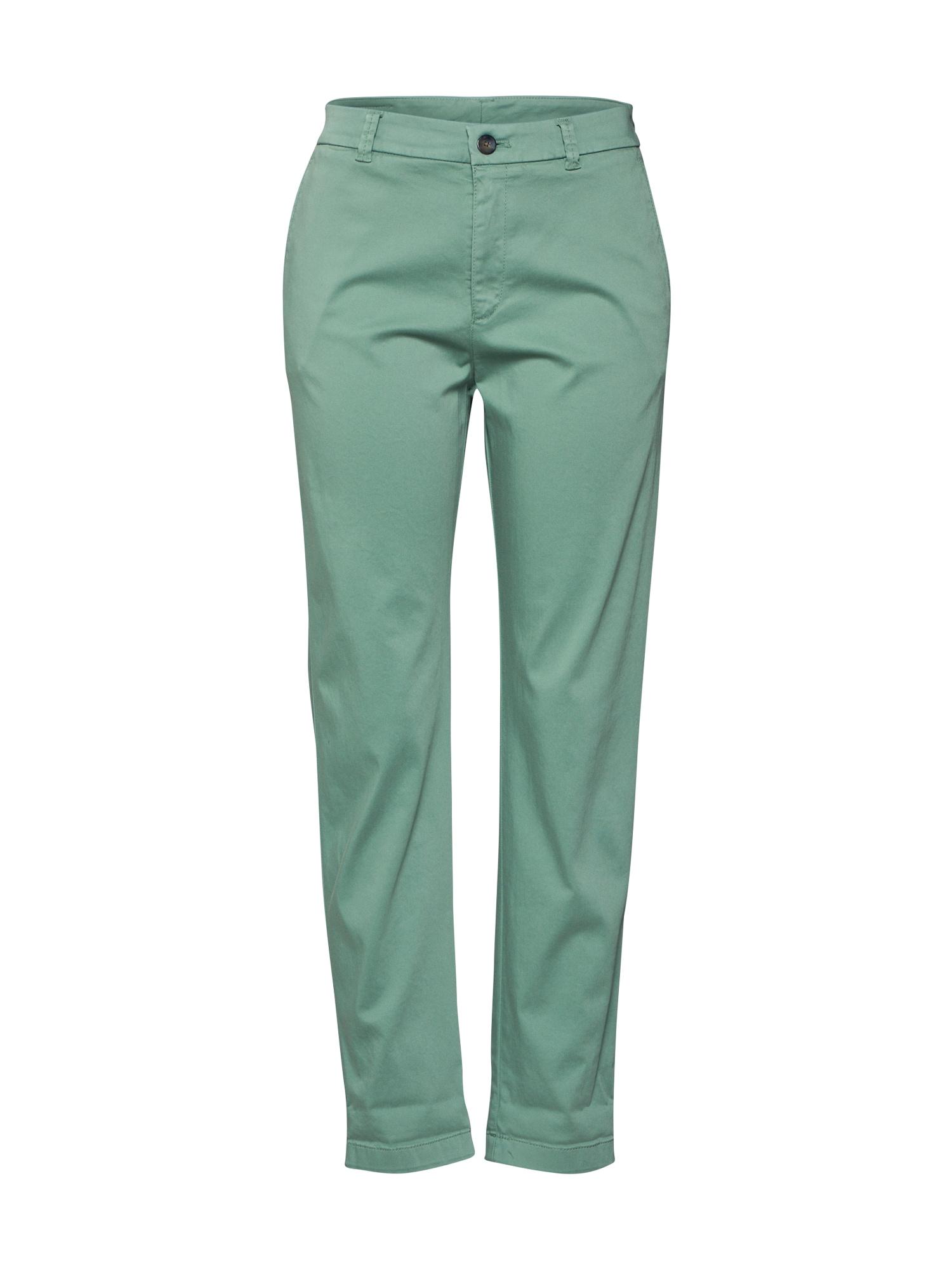 BOSS Chino stiliaus kelnės 'Sachini3-D' pastelinė žalia