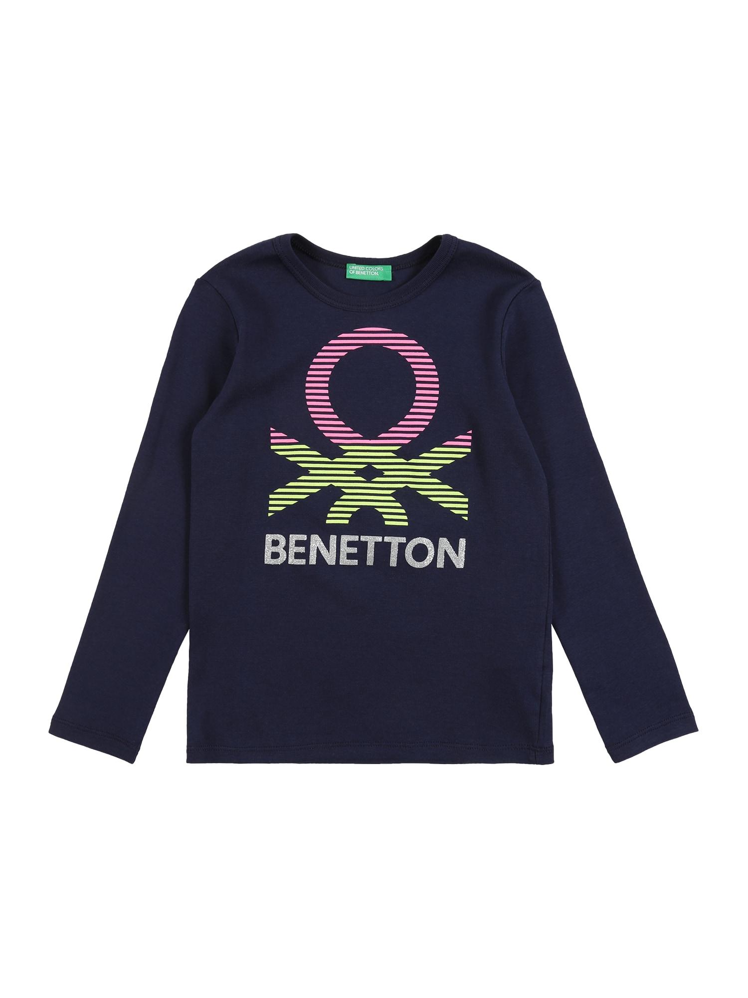 UNITED COLORS OF BENETTON Marškinėliai tamsiai mėlyna