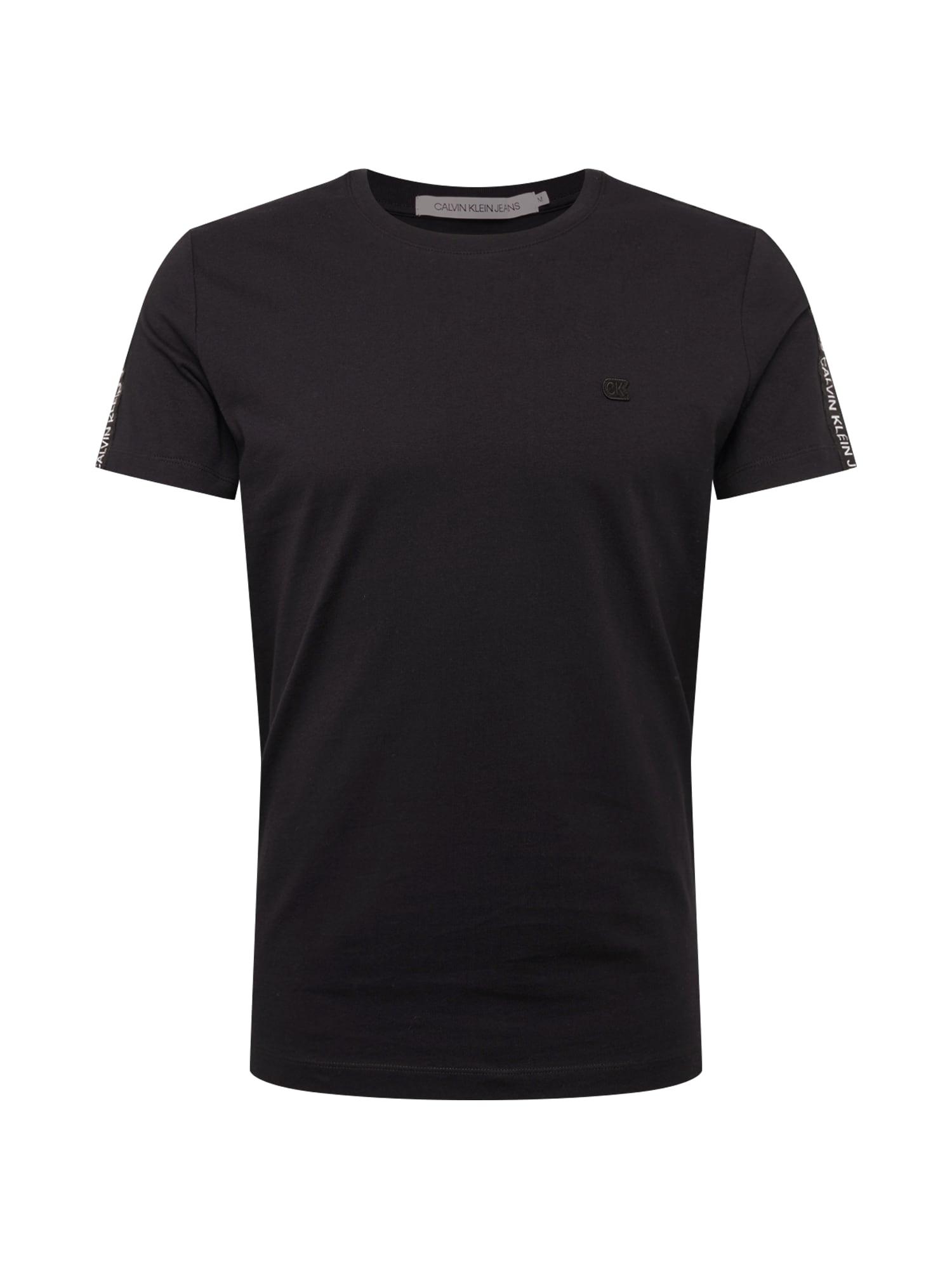 Tričko SLEEVES LOGO INSTIT TAPE SS černá Calvin Klein Jeans