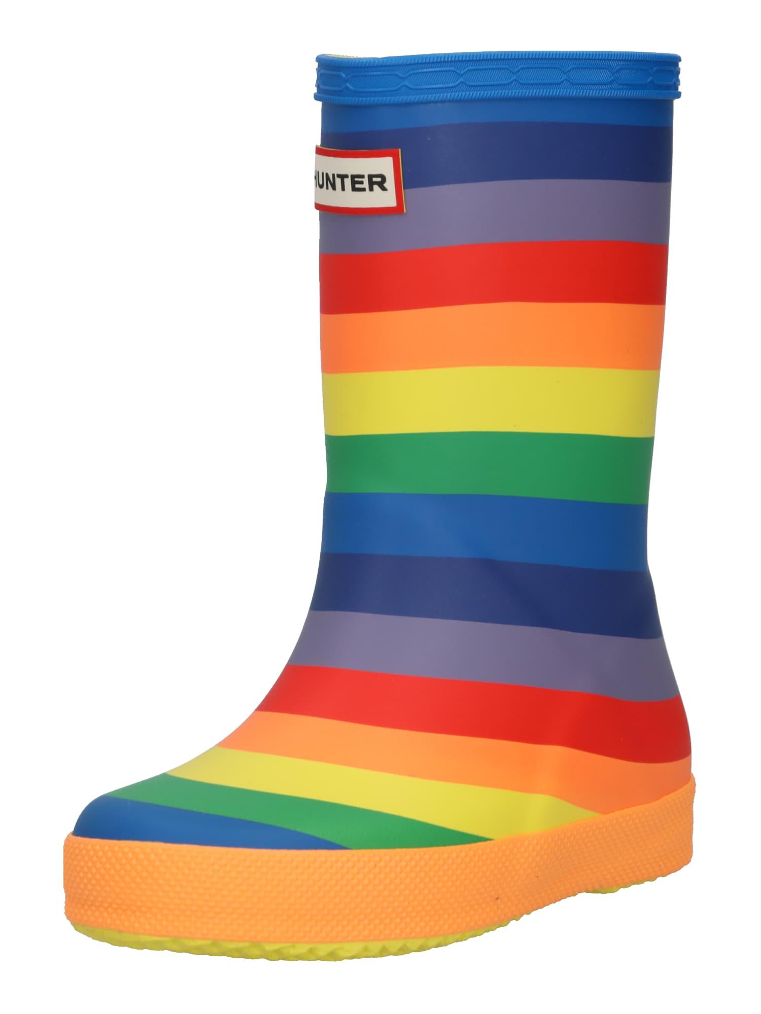 HUNTER Guminiai batai mišrios spalvos