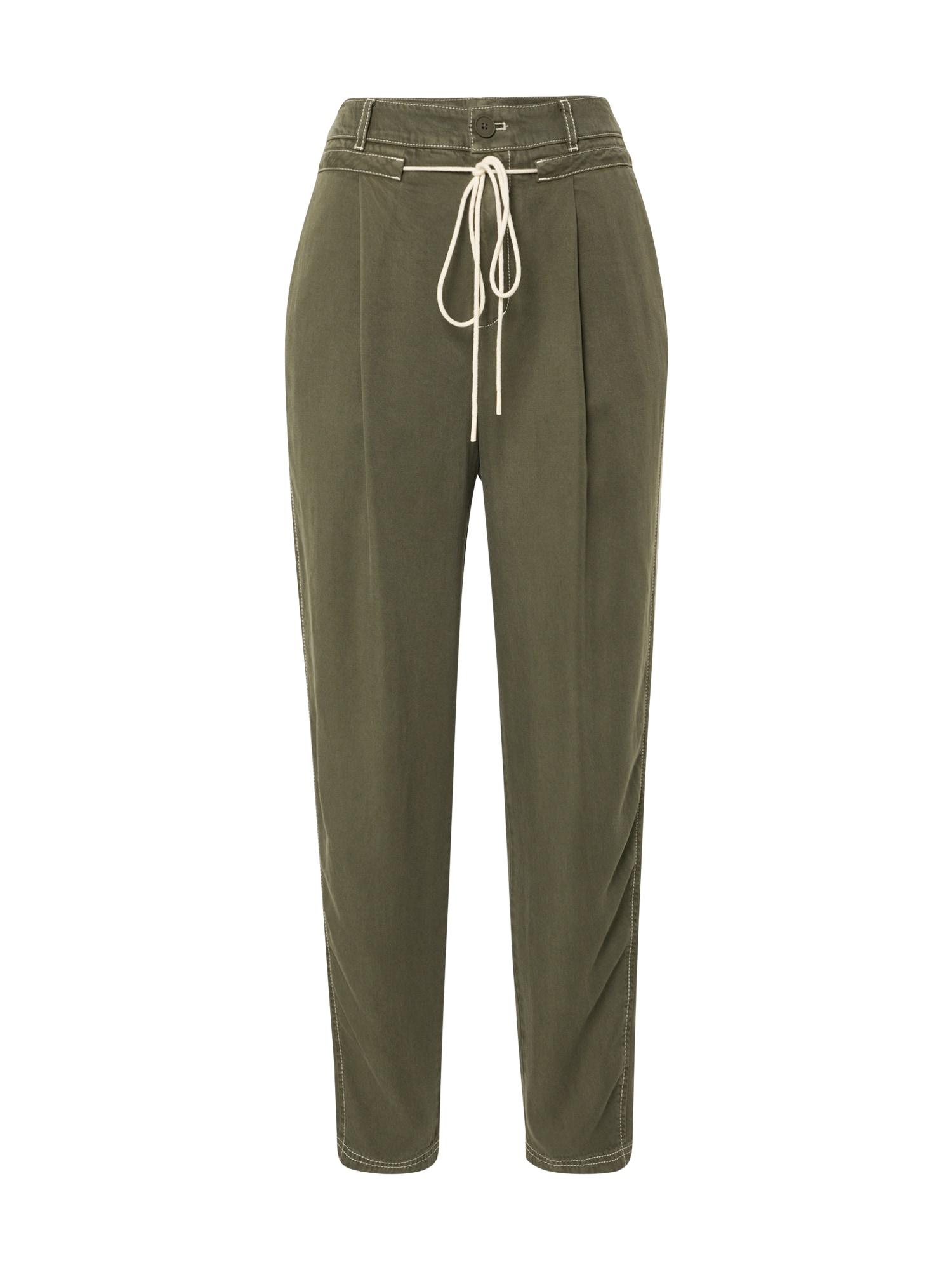BOSS Chino stiliaus kelnės 'Sarosy1-D' rusvai žalia