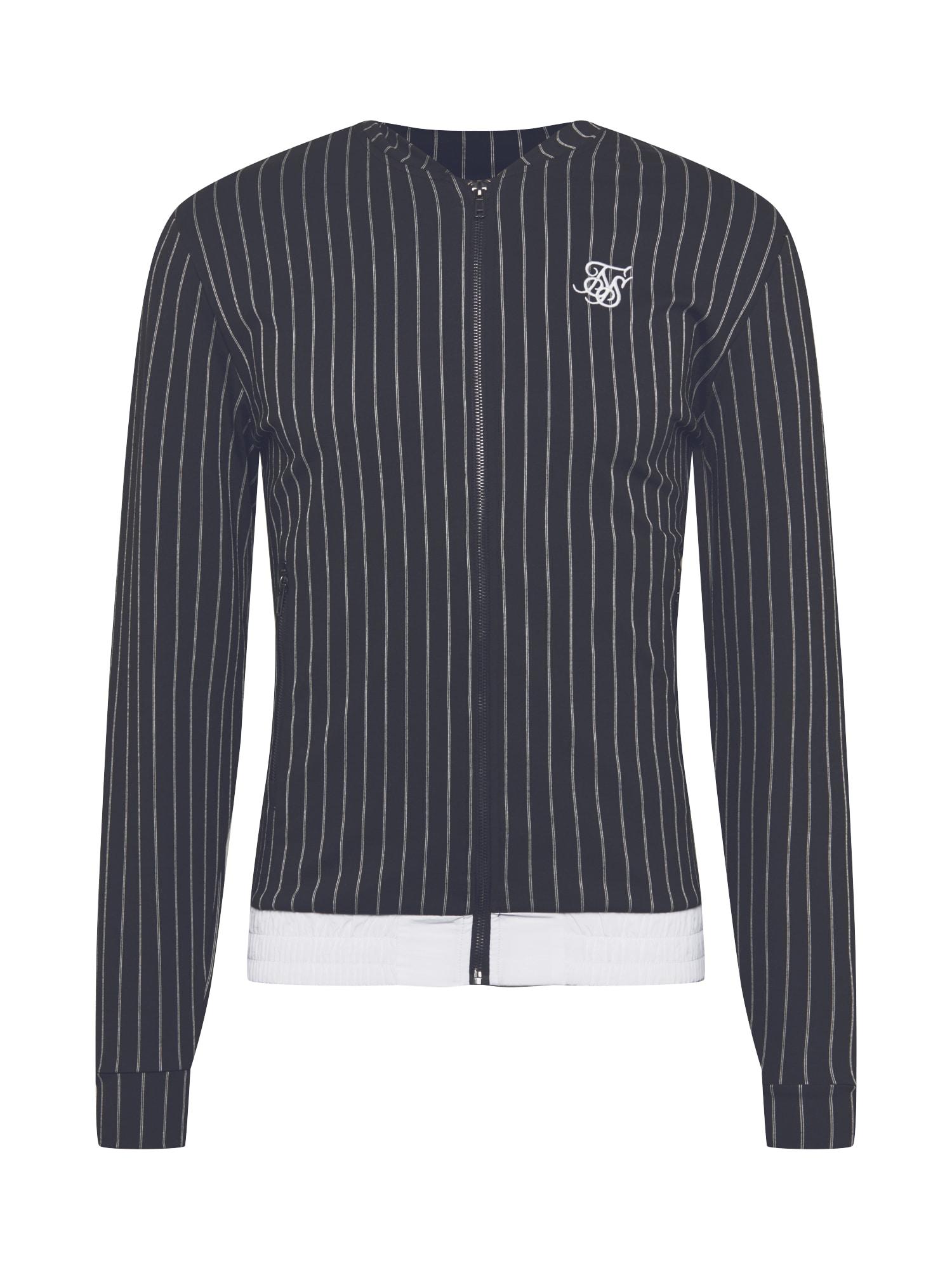 SikSilk Přechodná bunda  bílá / černá
