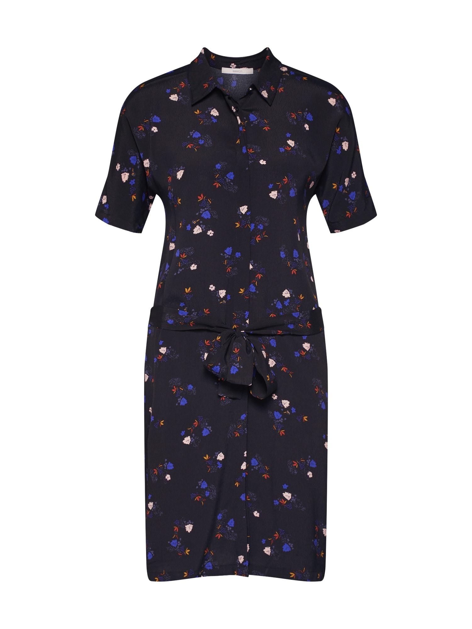 Košilové šaty tmavě modrá mix barev Sessun