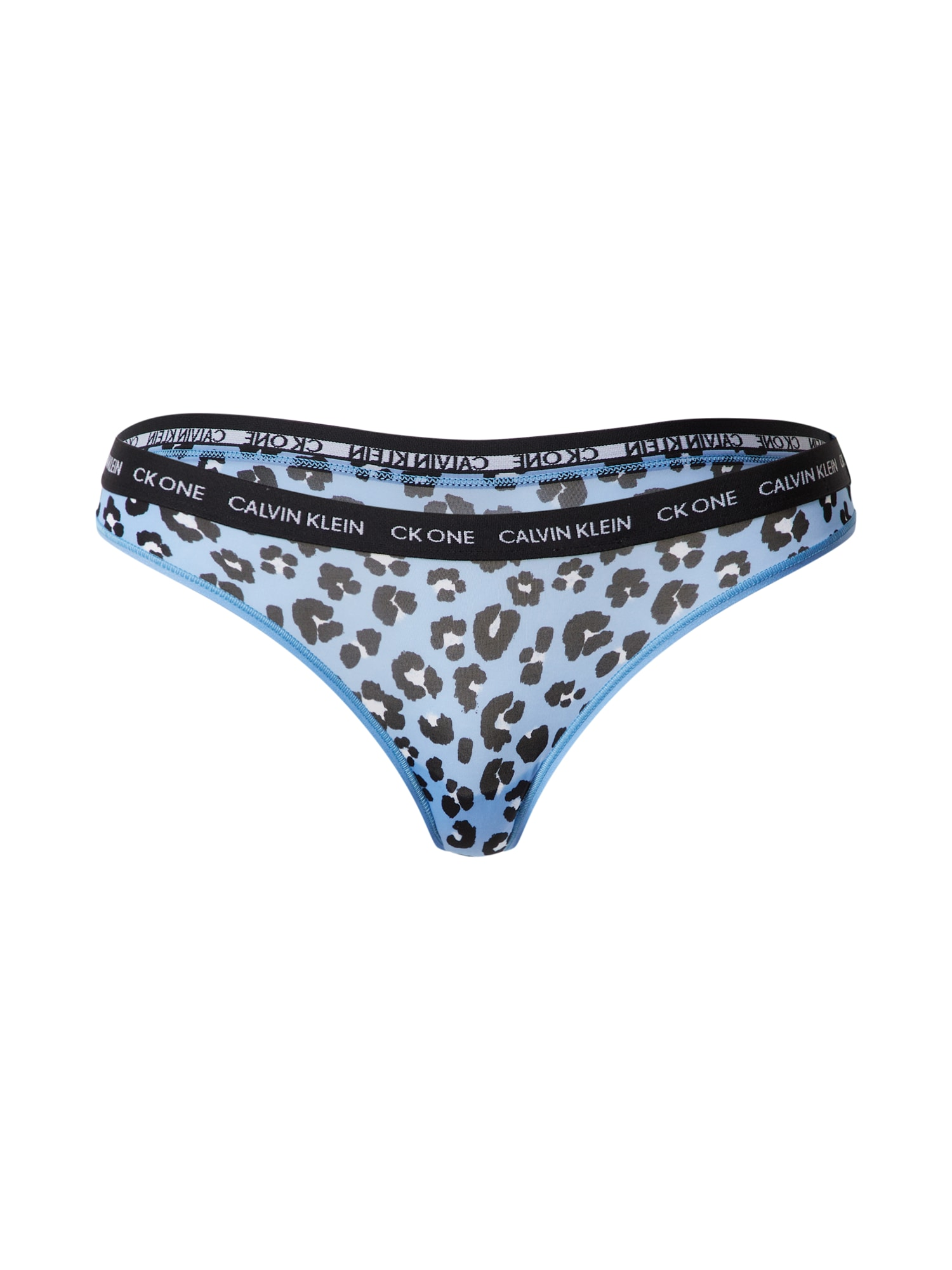 Calvin Klein Underwear Siaurikės 'THONG' juoda / mėlyna