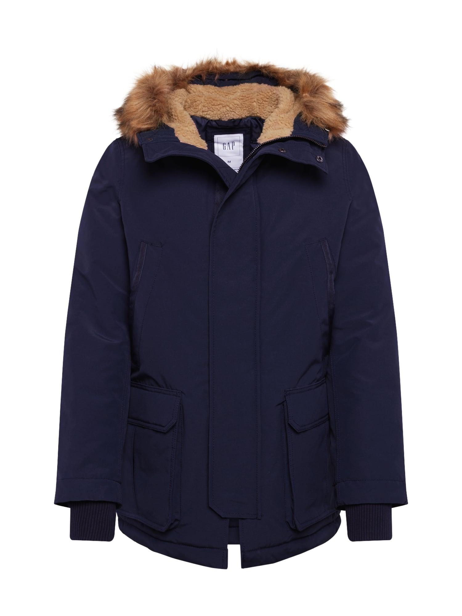 GAP Ilga žieminė striukė tamsiai mėlyna