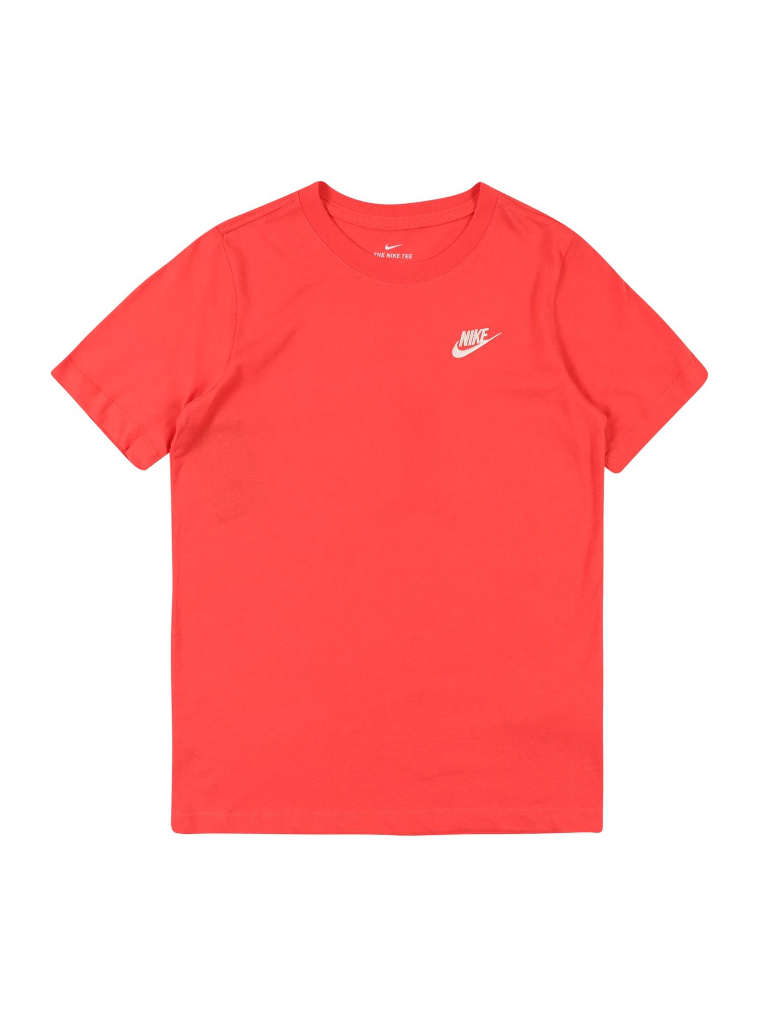 Nike Sportswear Tričko  biela / červené